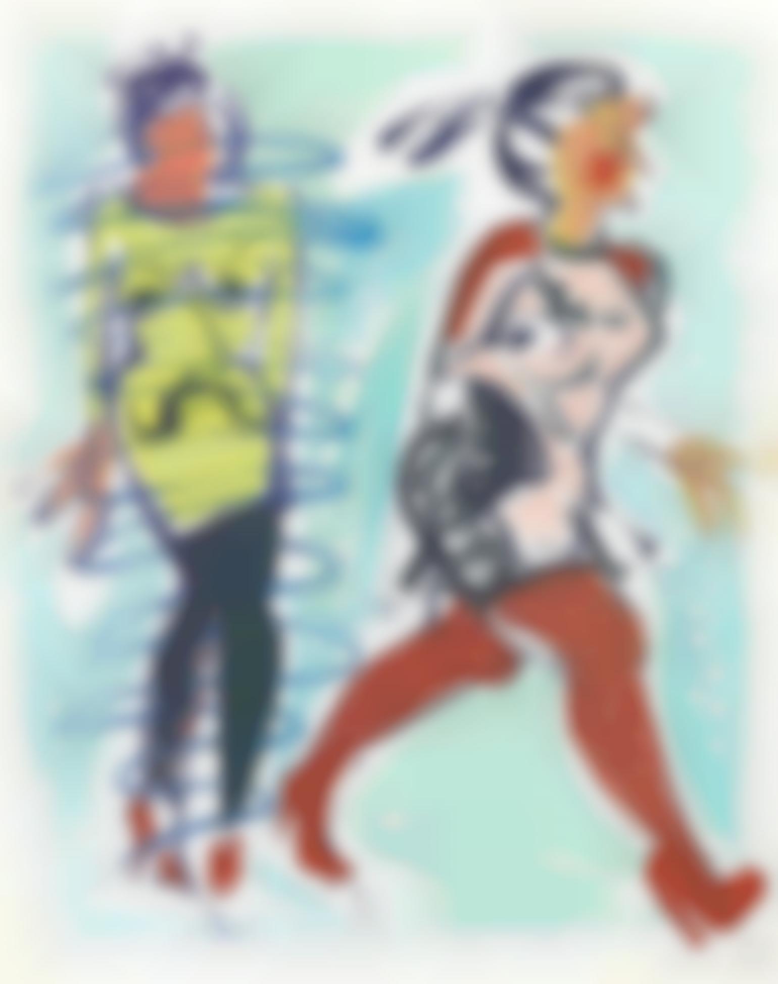 Ella Kruglyanskaya-Untitled (Study For Blue Scribble)-2013