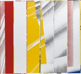 Jonathan Horowitz-Group Self-Portrait In 'Mirror #3 (Six Panels)' (Mary, Mike, Gil, Jan, Ryan, Emet)-2014