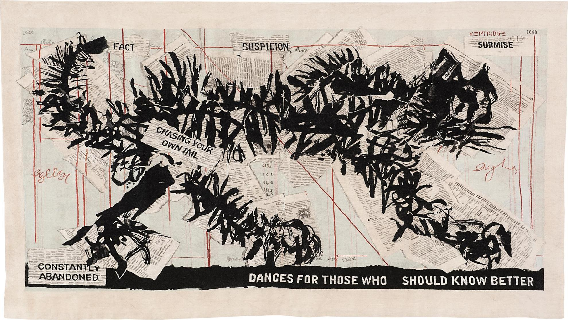 William Kentridge-Scribble Cat-2012