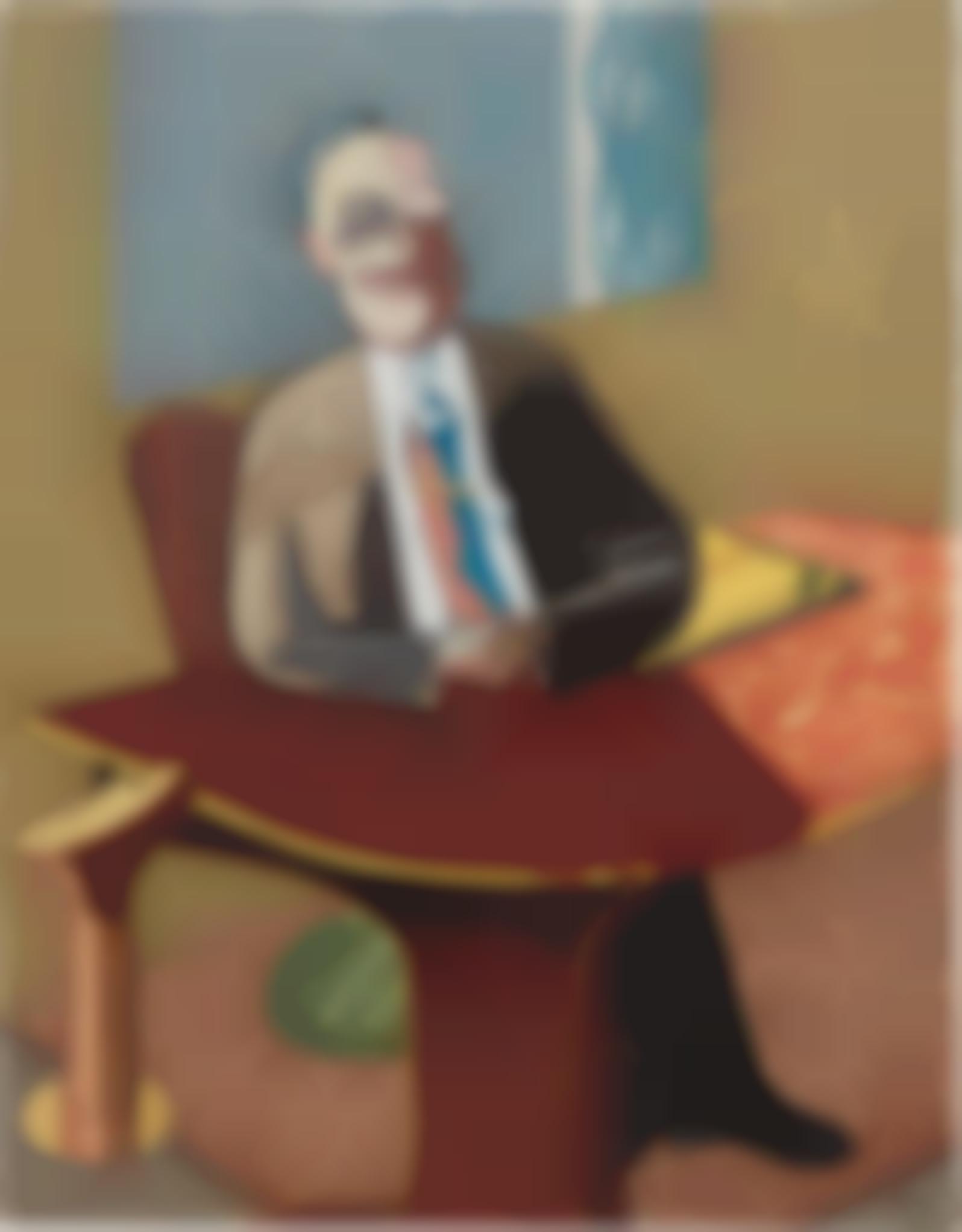 Juan Barjola-Portrait Of A Business Man-1993