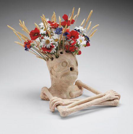 Maurizio Cattelan-Untitled (Skeleton Vase)-2000