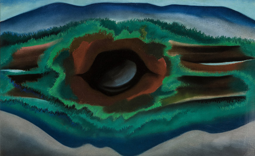o'keeffe spent her time between new york with stieglitz and mexico painting her abstract series of work and making photography