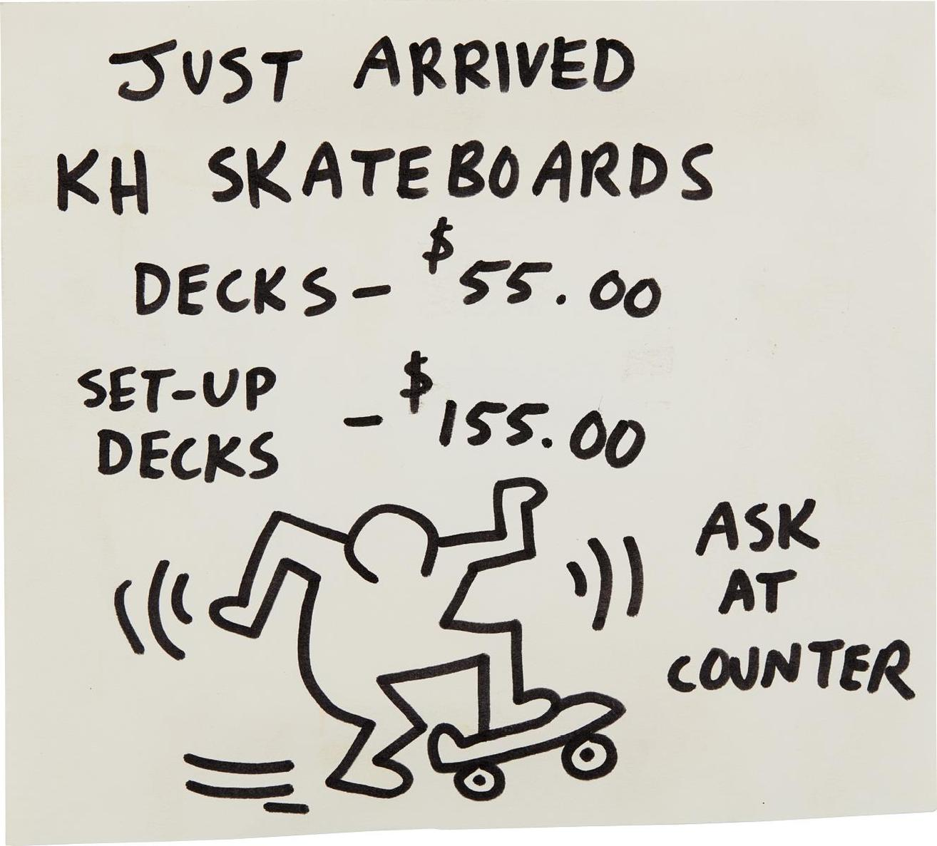 Keith Haring-Pop Shop Signage (Skateboards)-1990