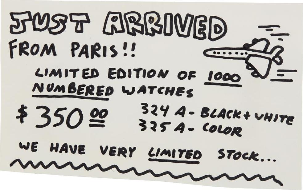 Keith Haring-Pop Shop Signage (Numbered Watches)-1990