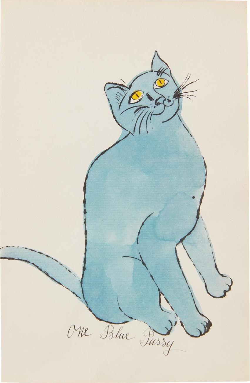 Andy Warhol-One Blue Pussy-1954