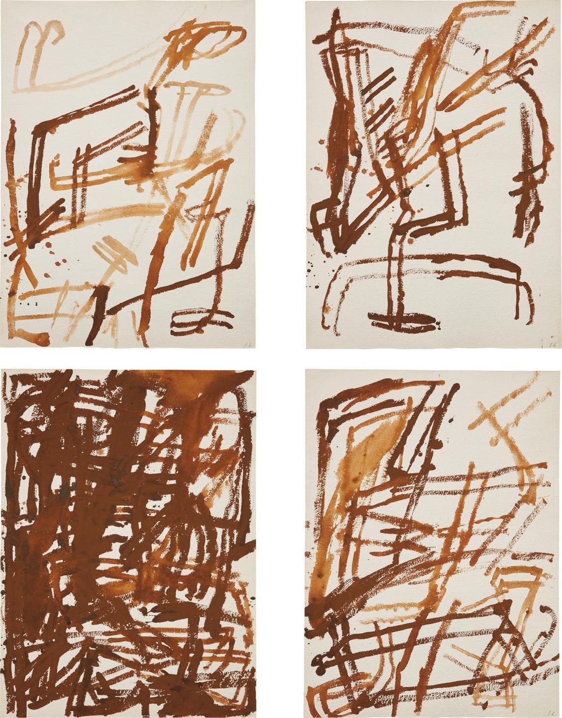 James Brown-Four Works: (i) Untitled IV; (ii) Untitled VI; (iii) Untitled VII; (iv) Untitled X-1986
