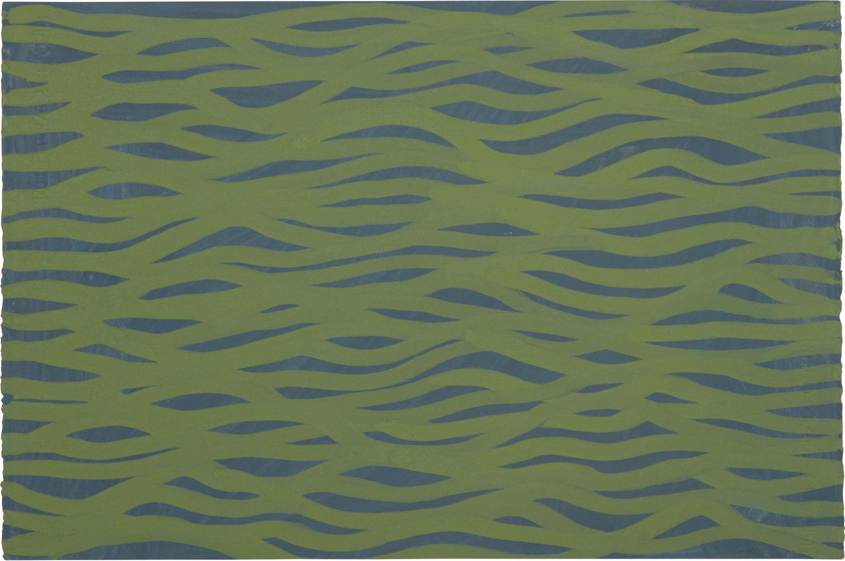 Sol LeWitt-Horizontal Brushstrokes (More Or Less)-2002