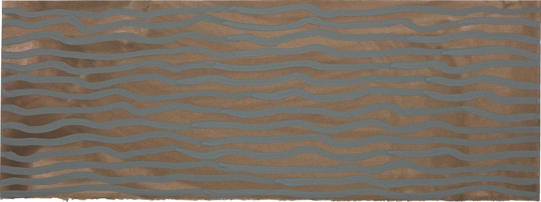 Sol LeWitt-Wavy Brushstrokes (Brown And Blue)-2002