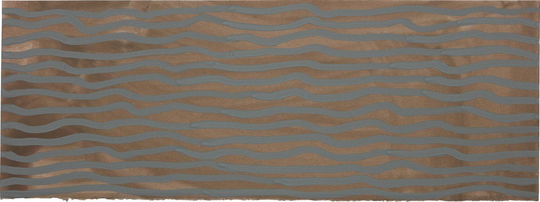 Sol LeWitt-Wavy Brushstrokes (Brown And Blue)-2002