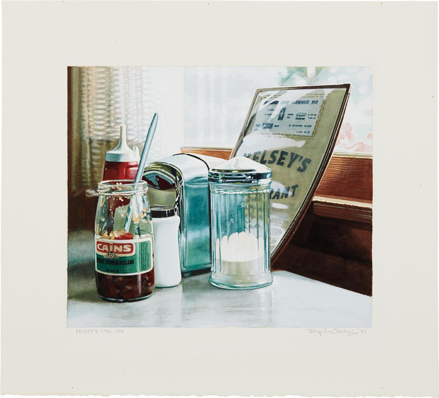 Ralph Goings-Kelseys Still Life-1981