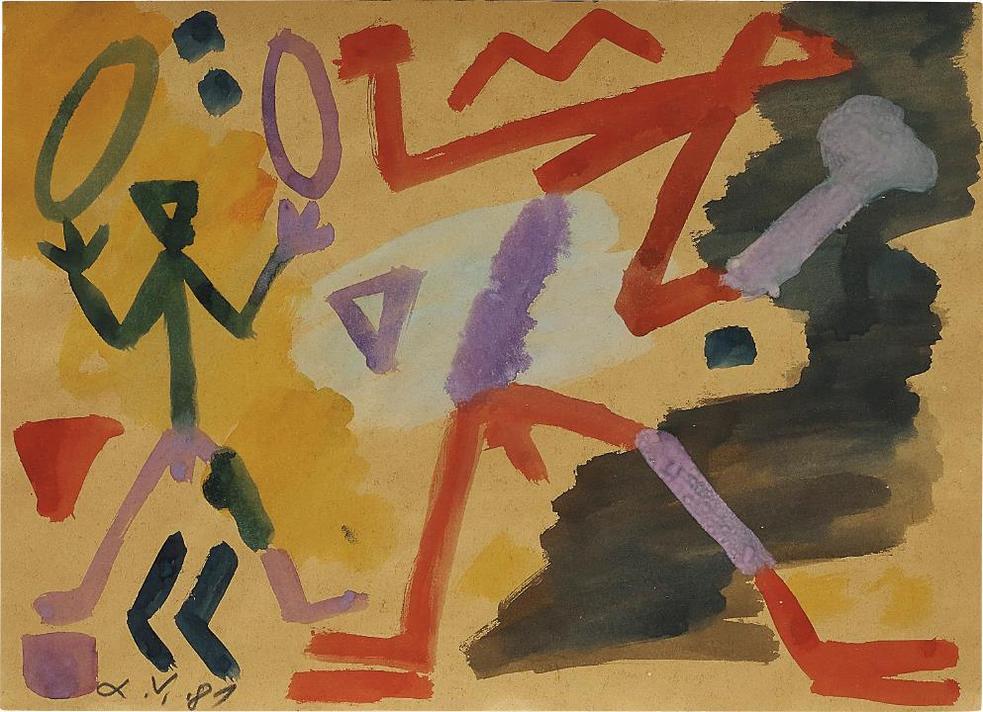 A.R. Penck-Ohne Titel-1981