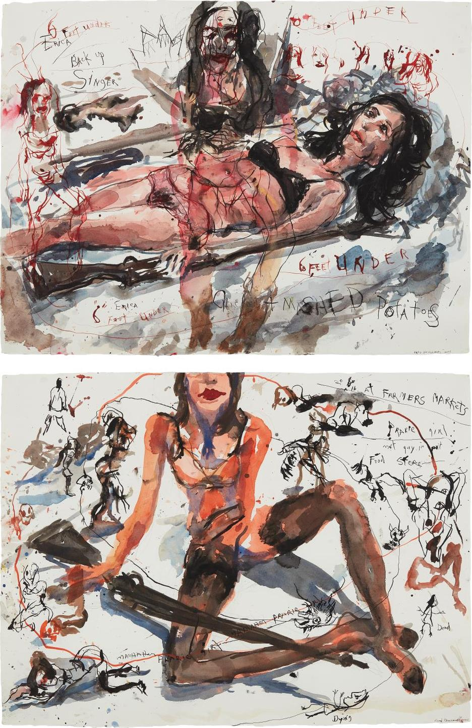 Brad Kahlhamer-Two Works: (I-Ii) Urban Prarie Girls-2005