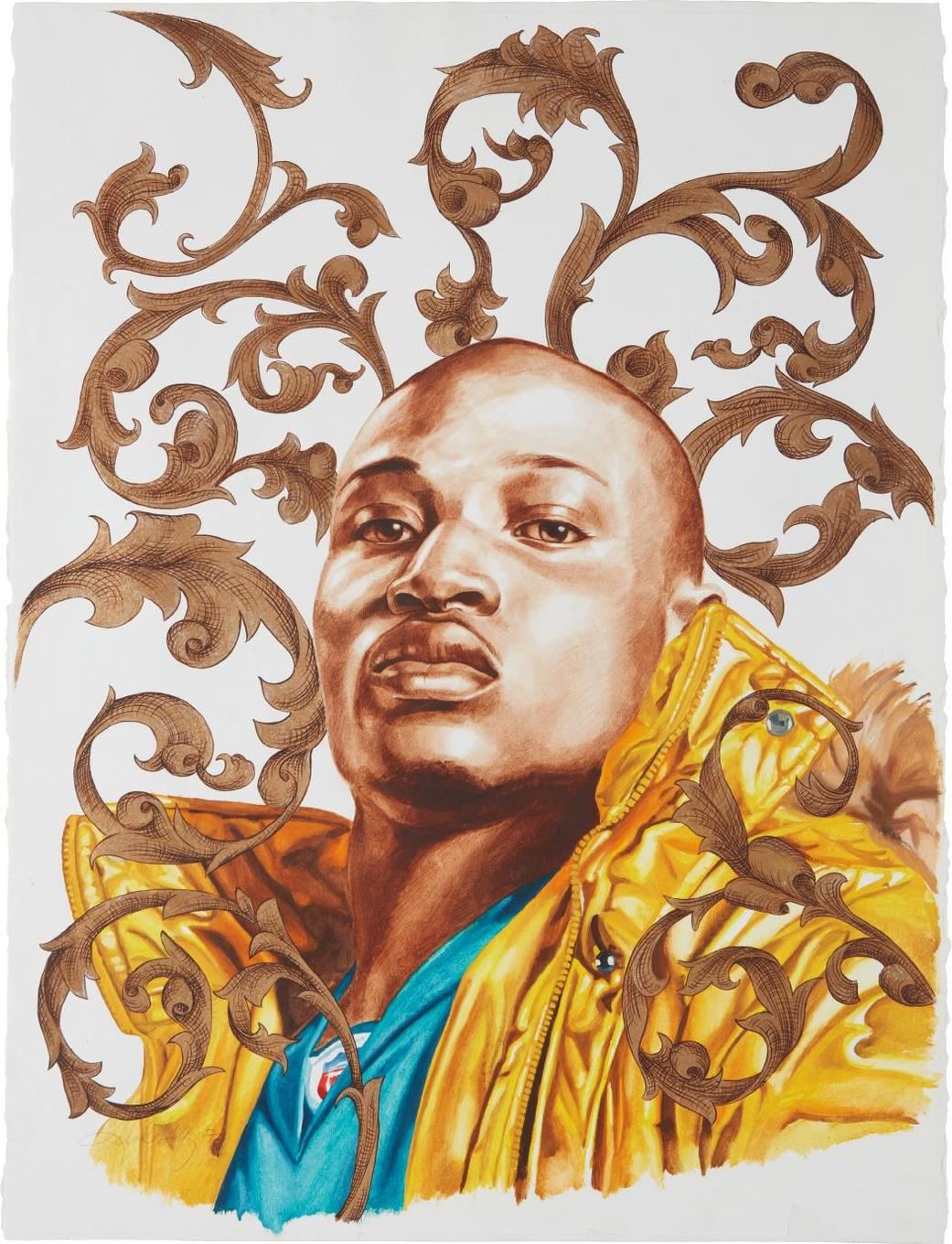 Kehinde Wiley-Le Roi A La Chasse (Study)-2007