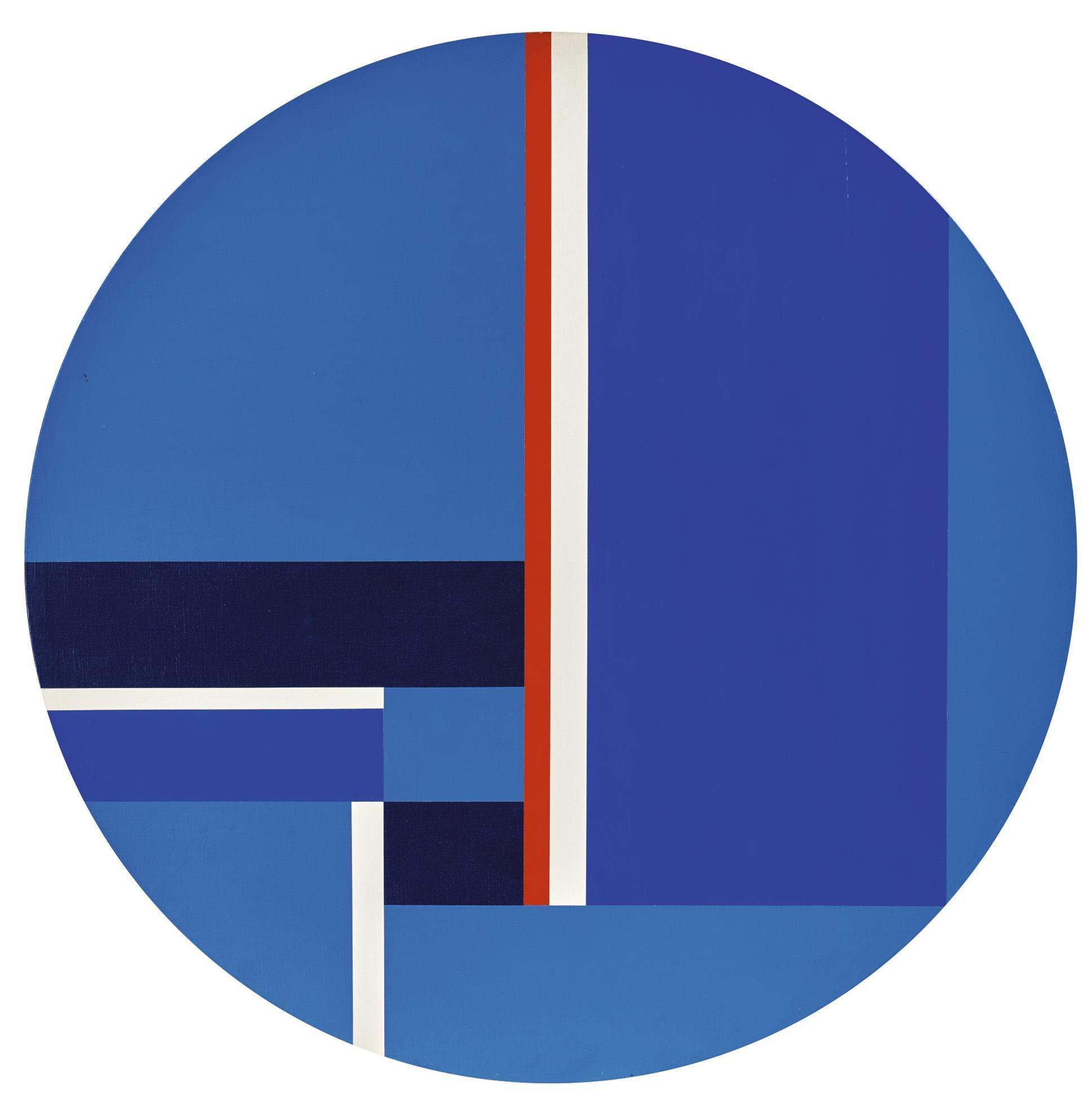 Ilya Bolotowsky-Blue Tondo-1976