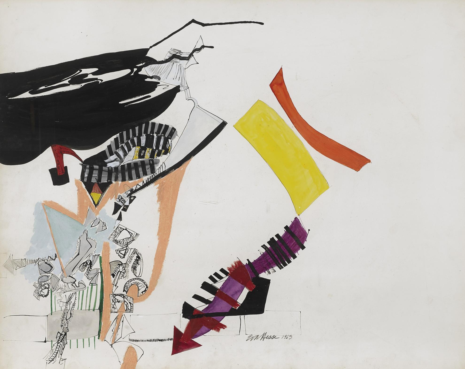 Eva Hesse-Untitled-1963