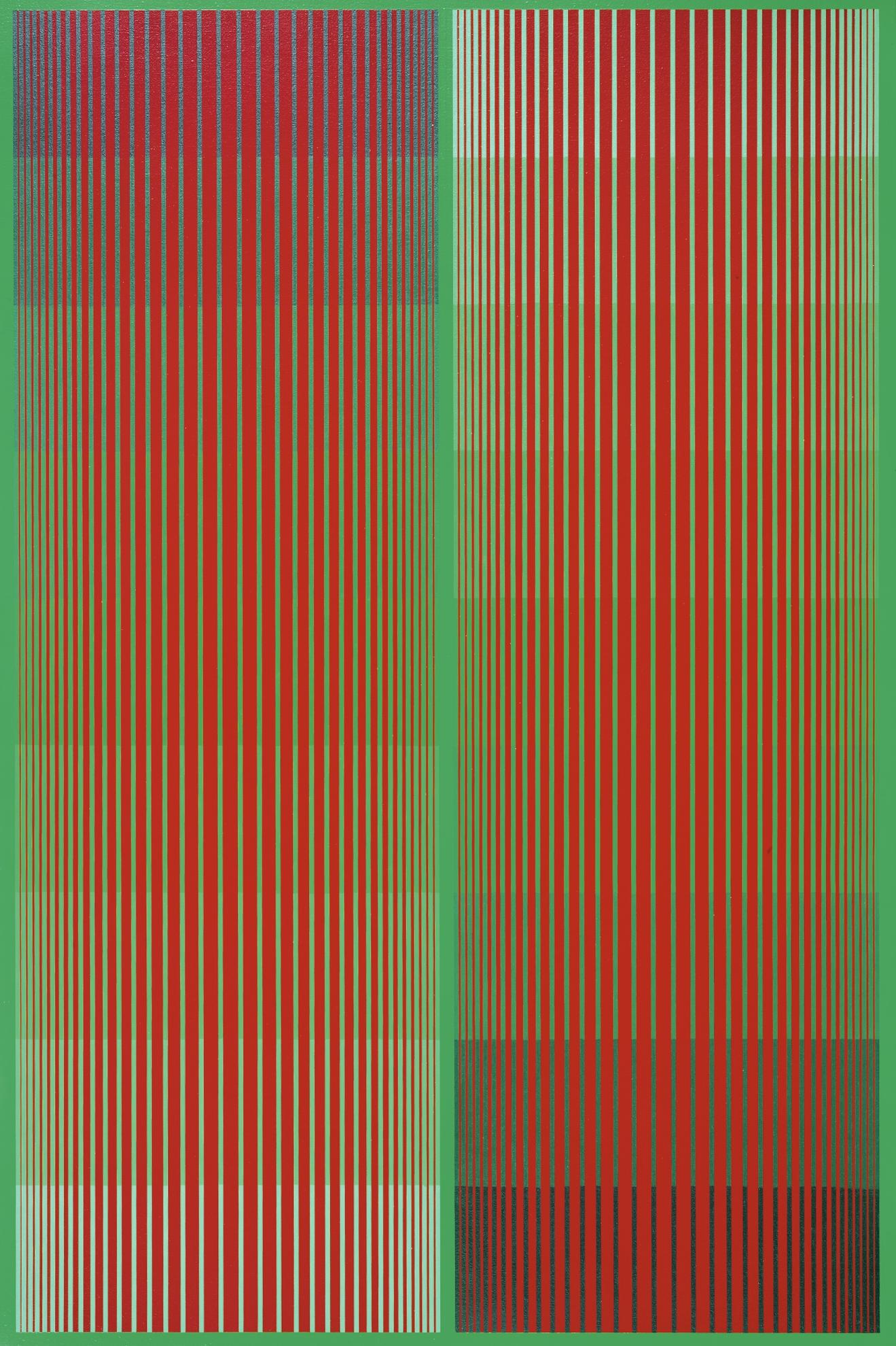 Richard Anuszkiewicz-Greening Red Duo (A.K.A. Dual Reds II)-1984