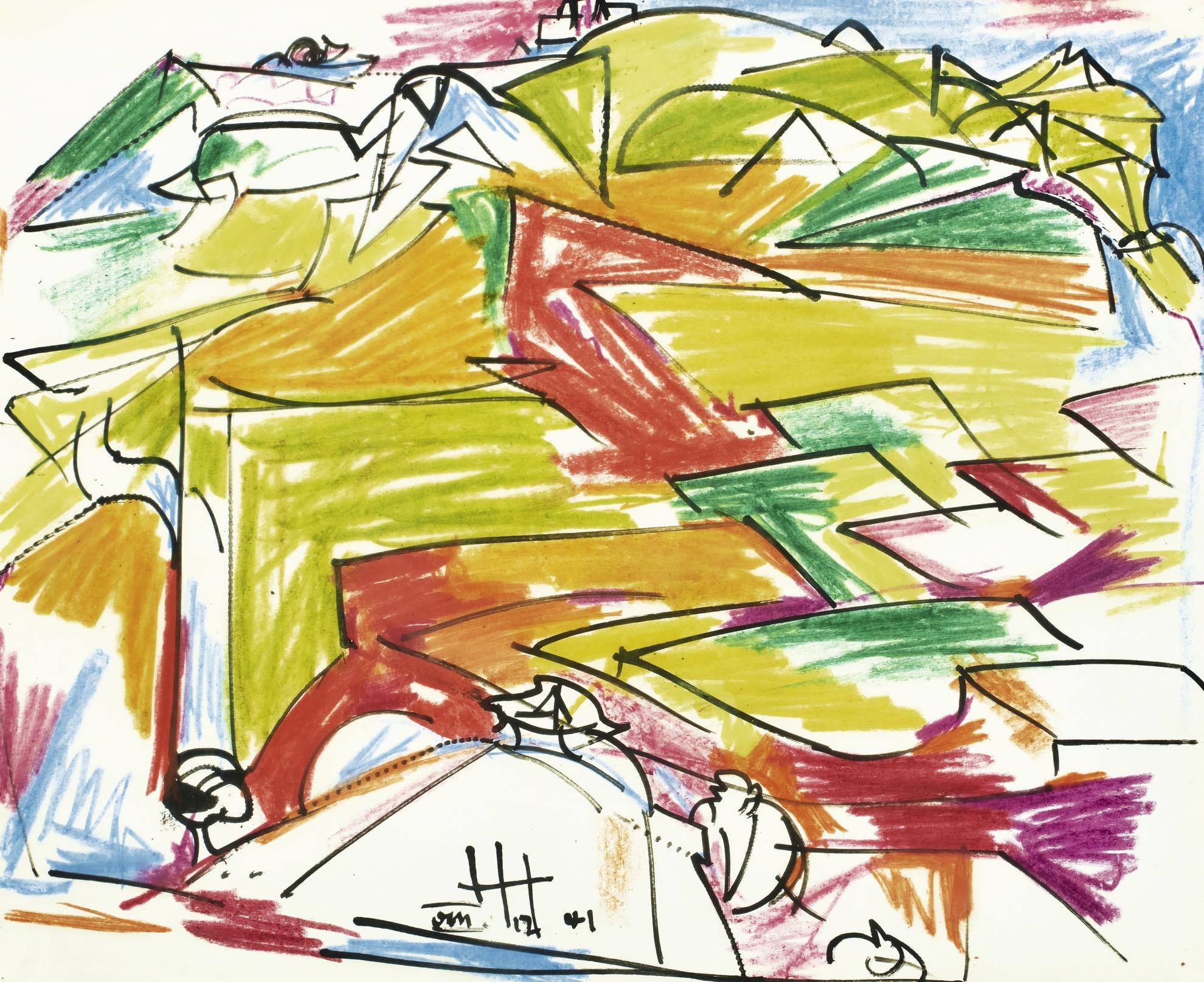 Hans Hofmann-Untitled-1941