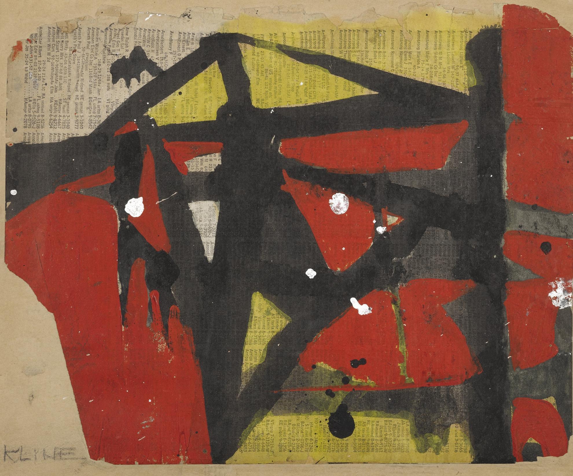 Franz Kline-Untitled III-1952