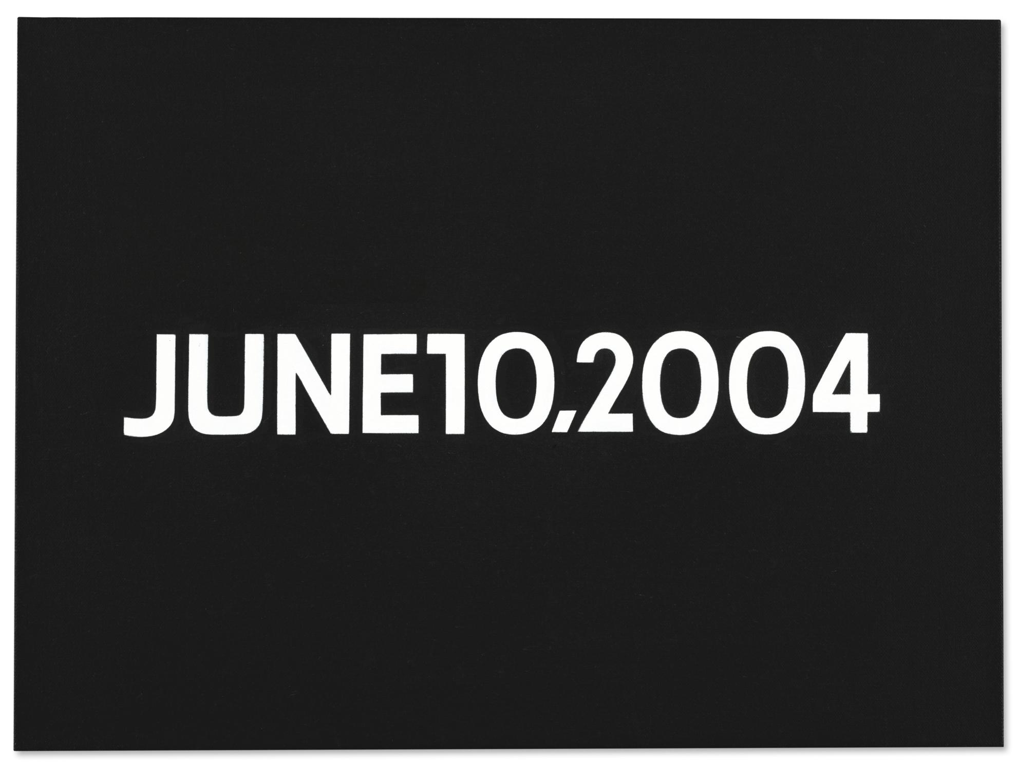 On Kawara-June 10, 2004 (From Today Series, 1966-2013)-2004