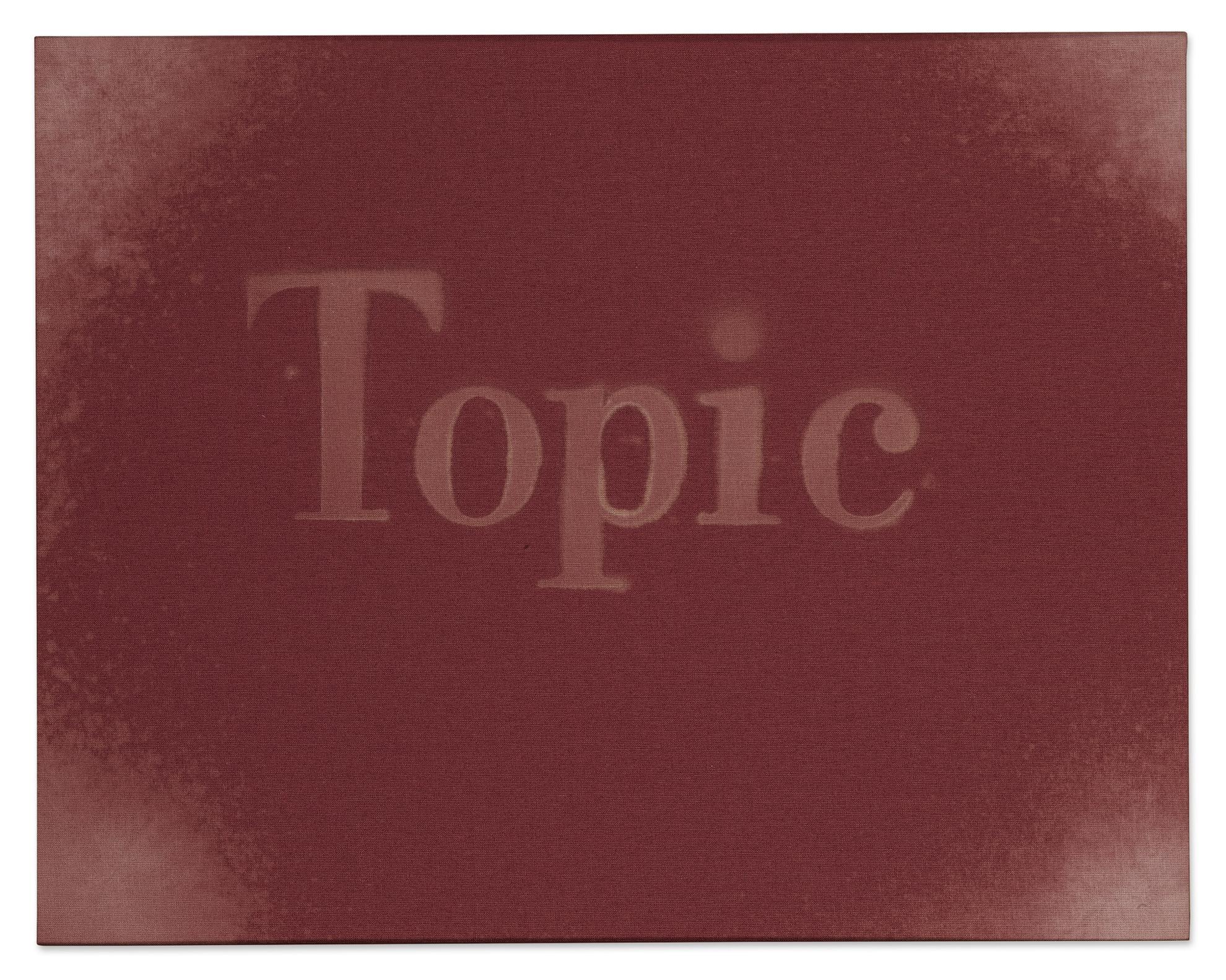 Ed Ruscha-Topic-2012