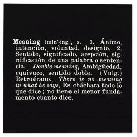 Joseph Kosuth-'Titled (A.A.I.A.I)' [Meaning] (Eng. Spa.)-1967