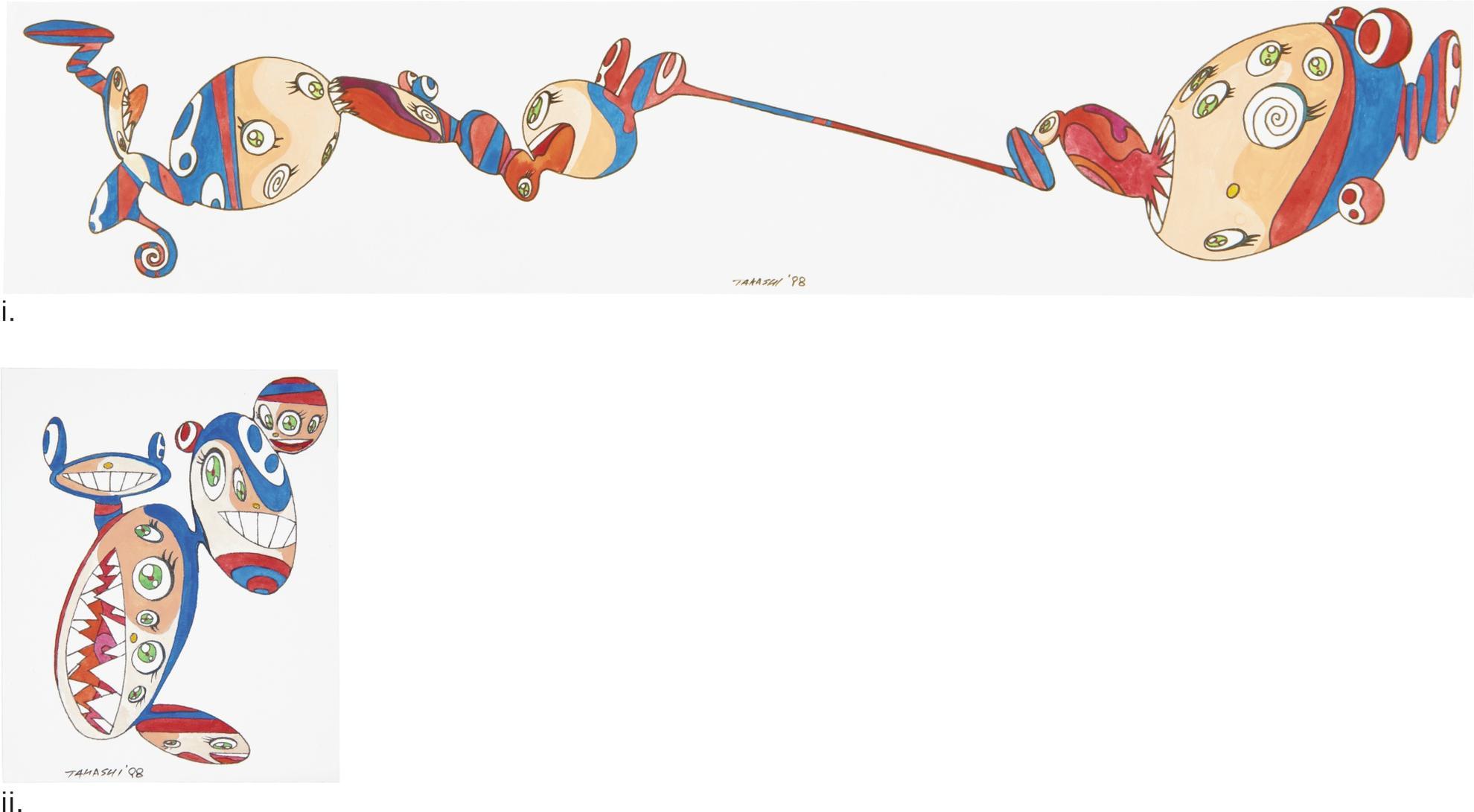 Takashi Murakami-Untitled: A Pair-1998