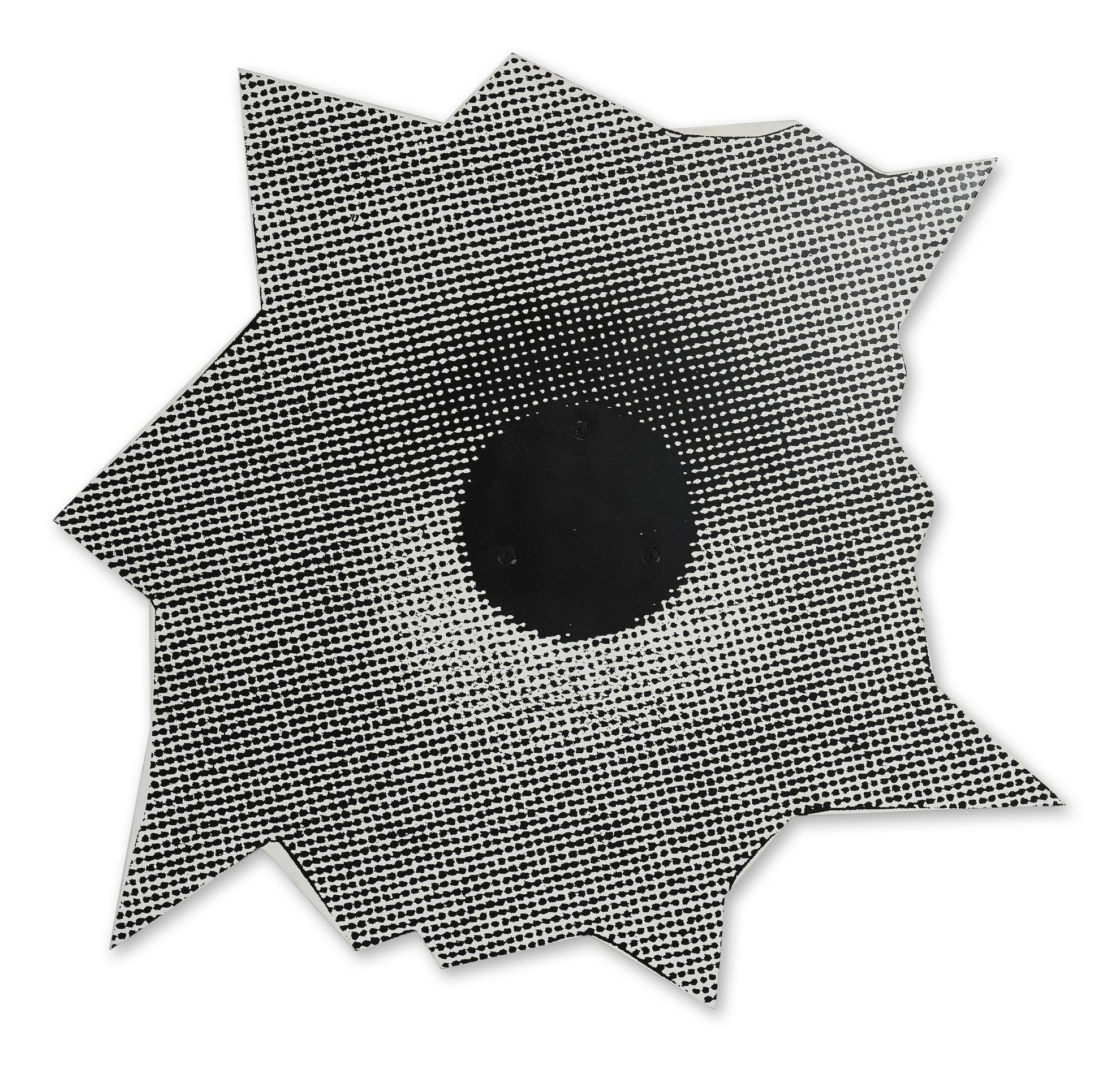 Nate Lowman-Outdoor Sculpture (Bullethole #1)-2005