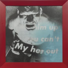 Barbara Kruger-Untitled (You Can Dress Him Up But You Cant Take Him Out; My Hero!)-1986