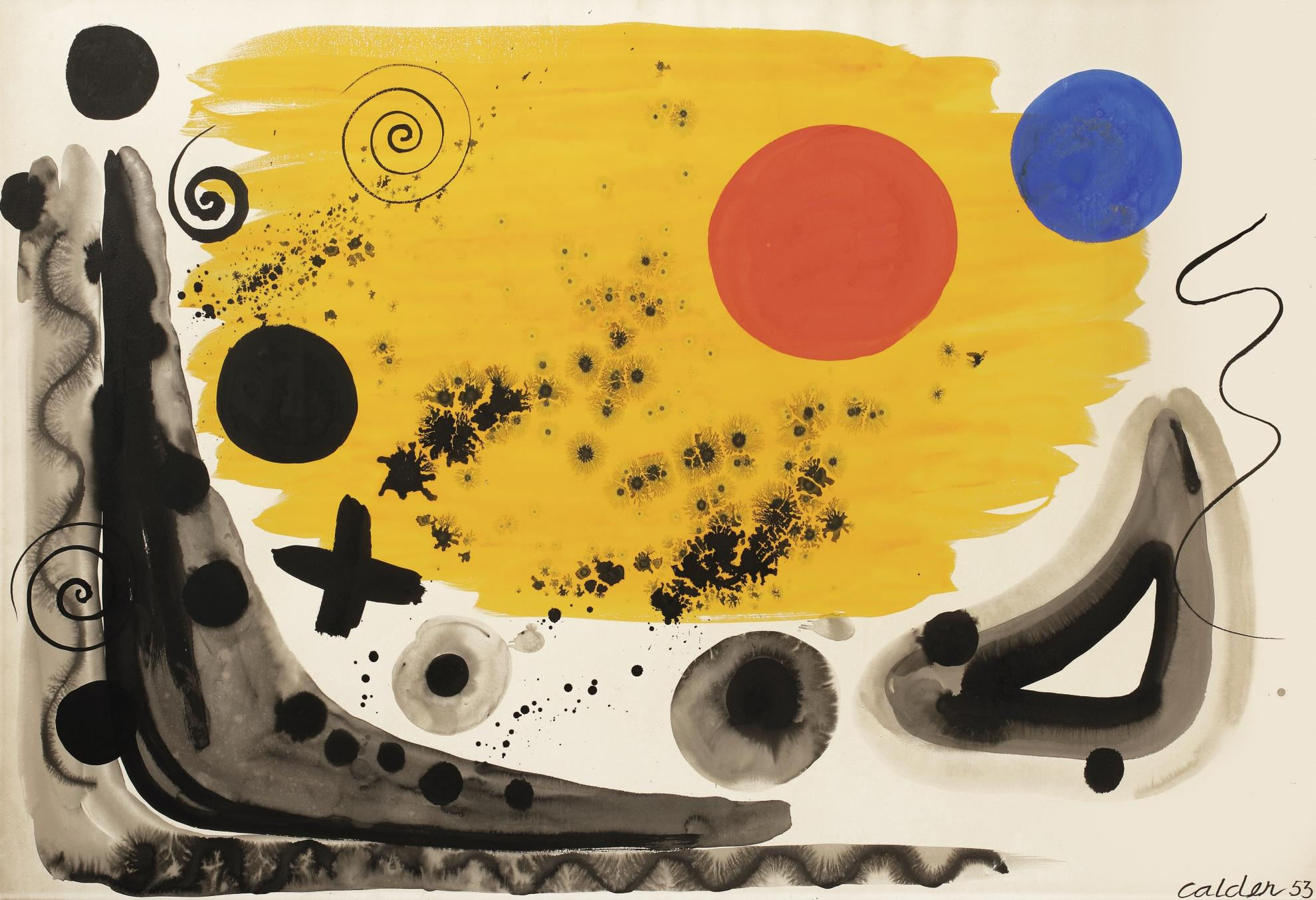 Alexander Calder-Spheres And Stars-1953
