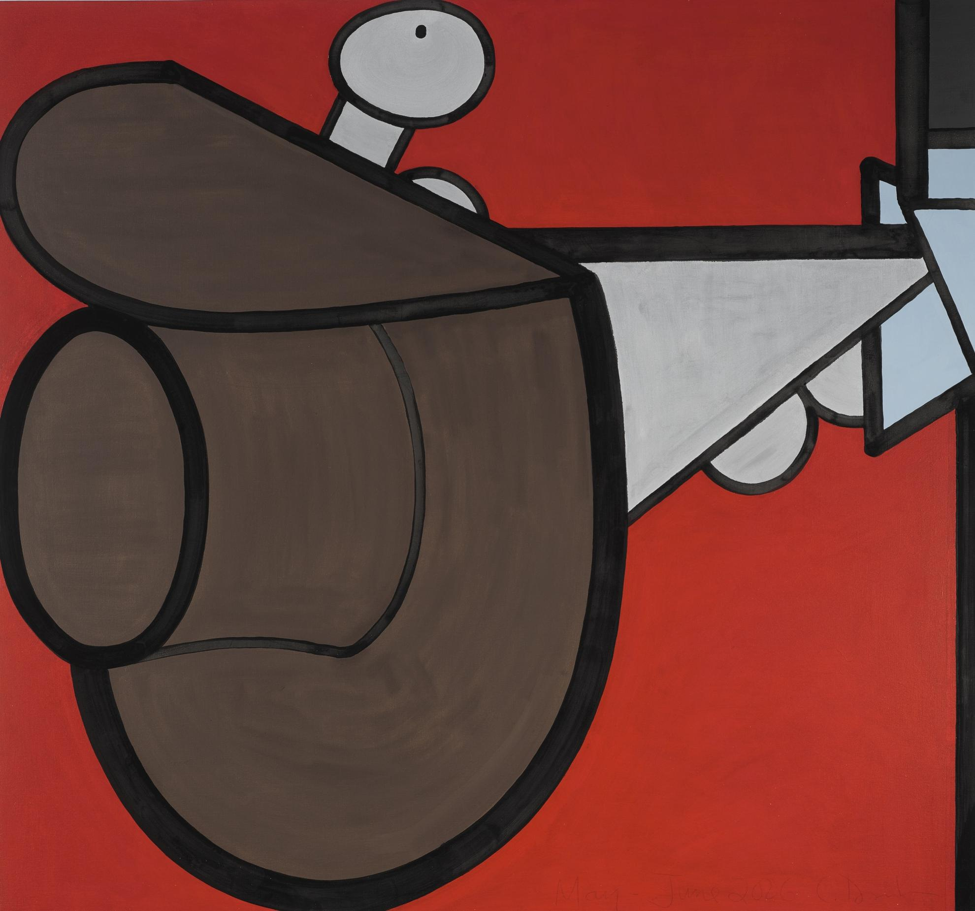 Carroll Dunham-In Red Space (Five)-2006