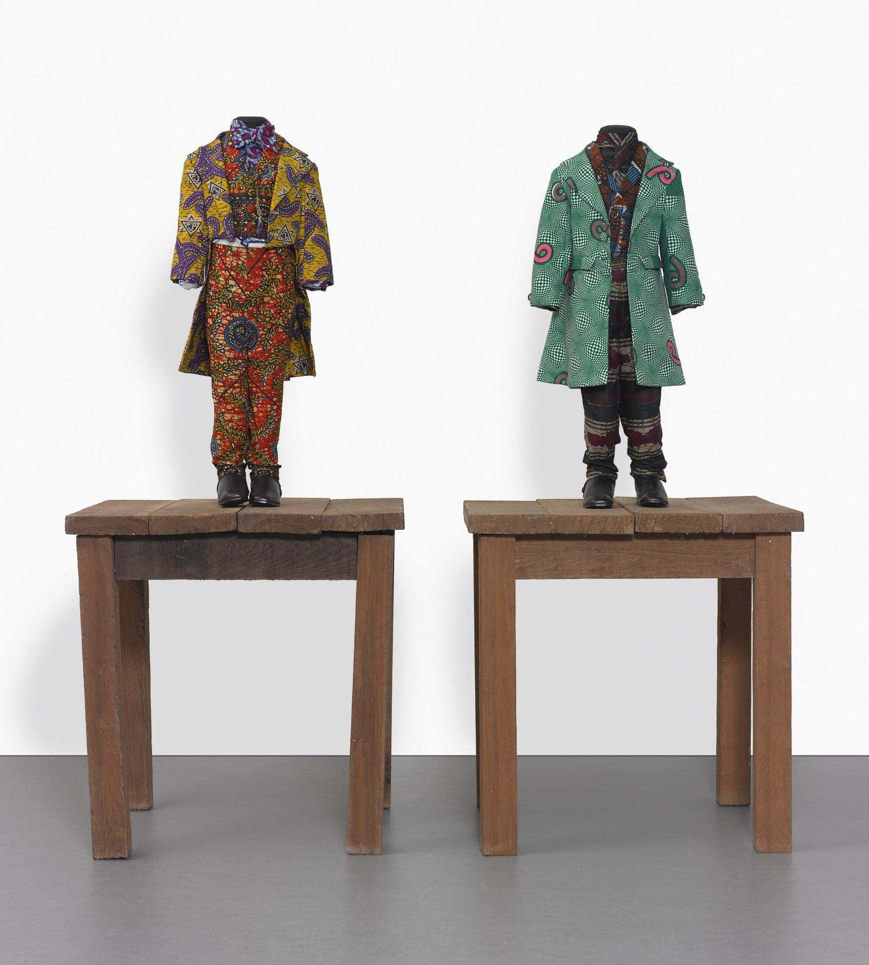 Yinka Shonibare-19Th Century Kid (Benjamin Disraeli); 19Th Century Kid (William Gladstone)  [Two Works]-2000