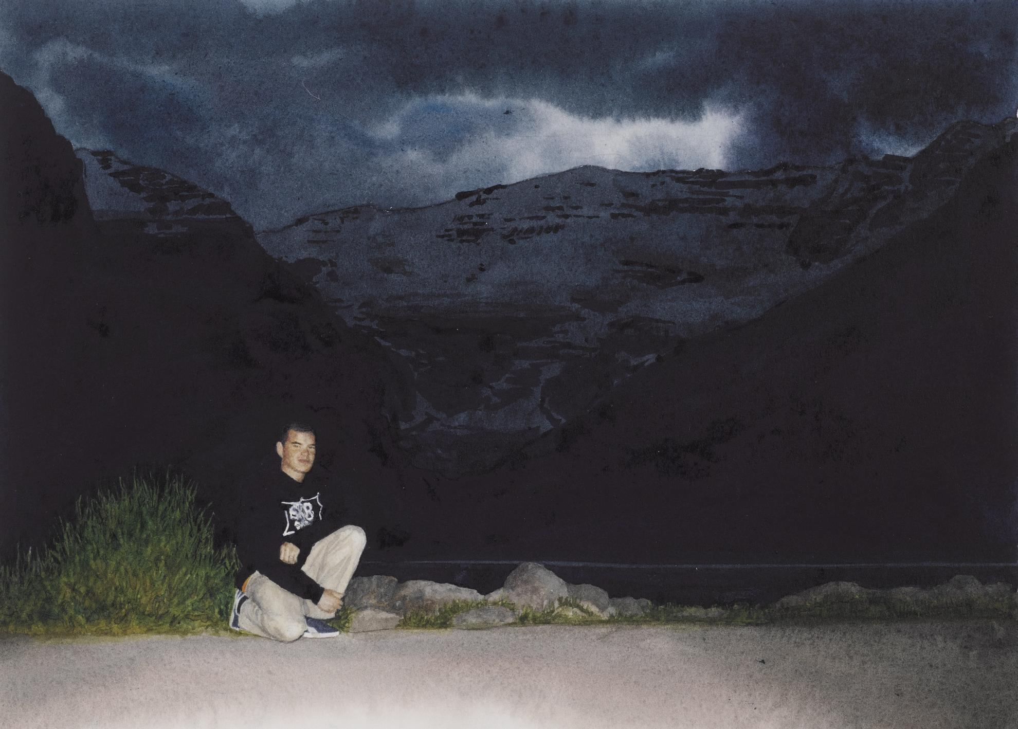 Tim Gardner-Black Self-Portrait: Lake Louise-2002