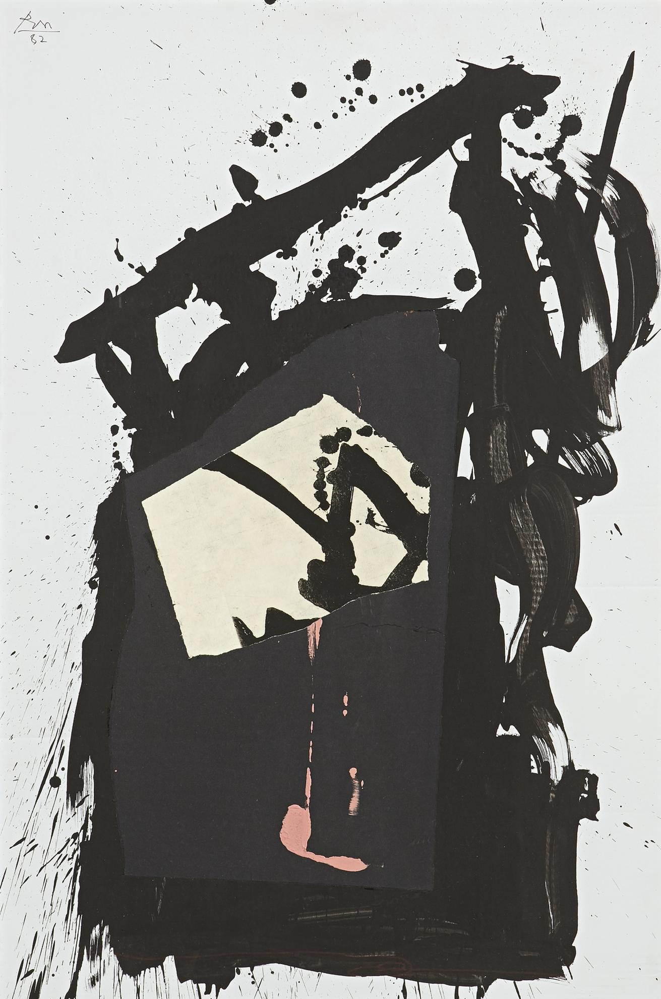 Robert Motherwell-Gypsy Collage No. 4-1982