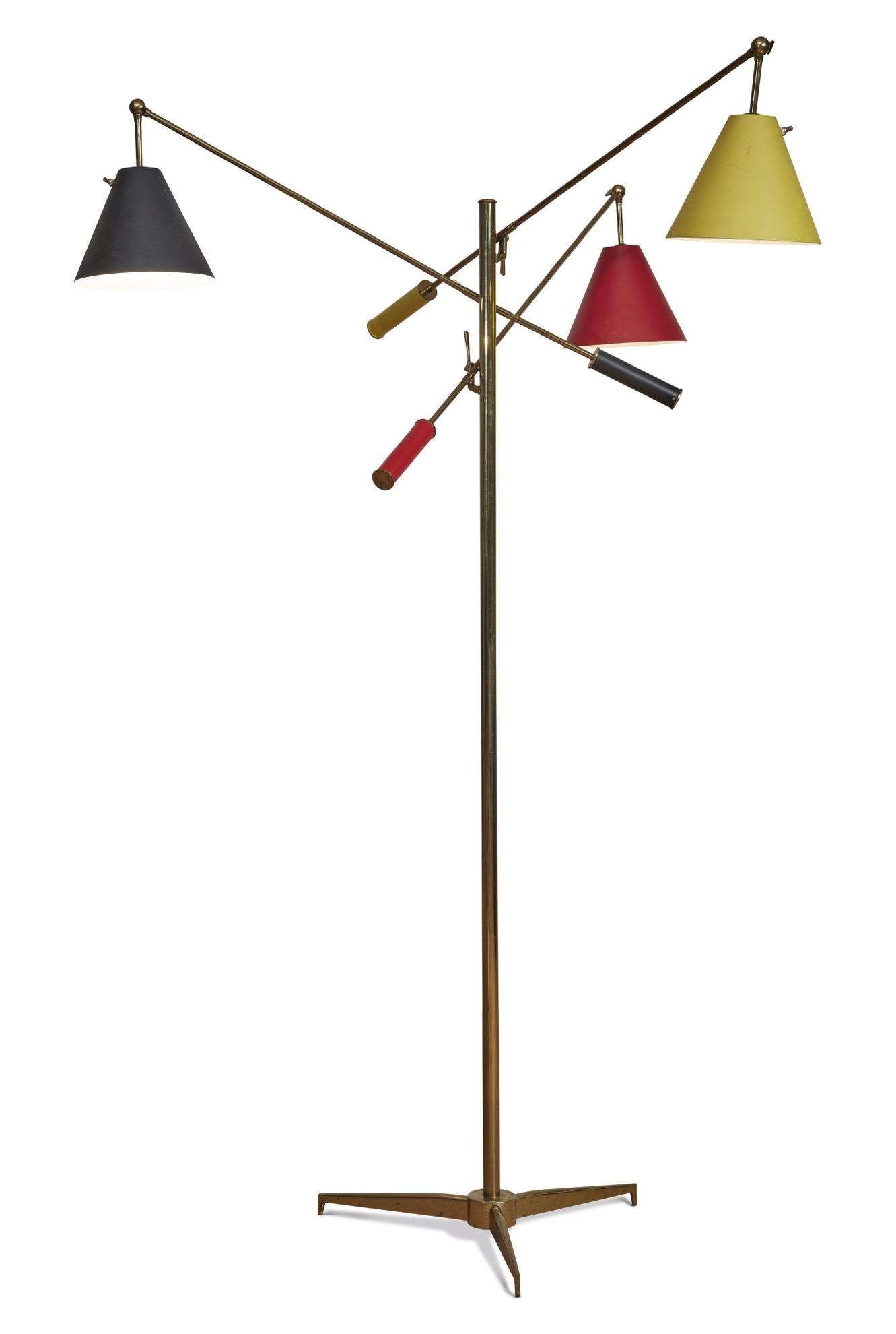 Angelo Lelli - Triennale Floor Lamp, Model No. 12128-1951