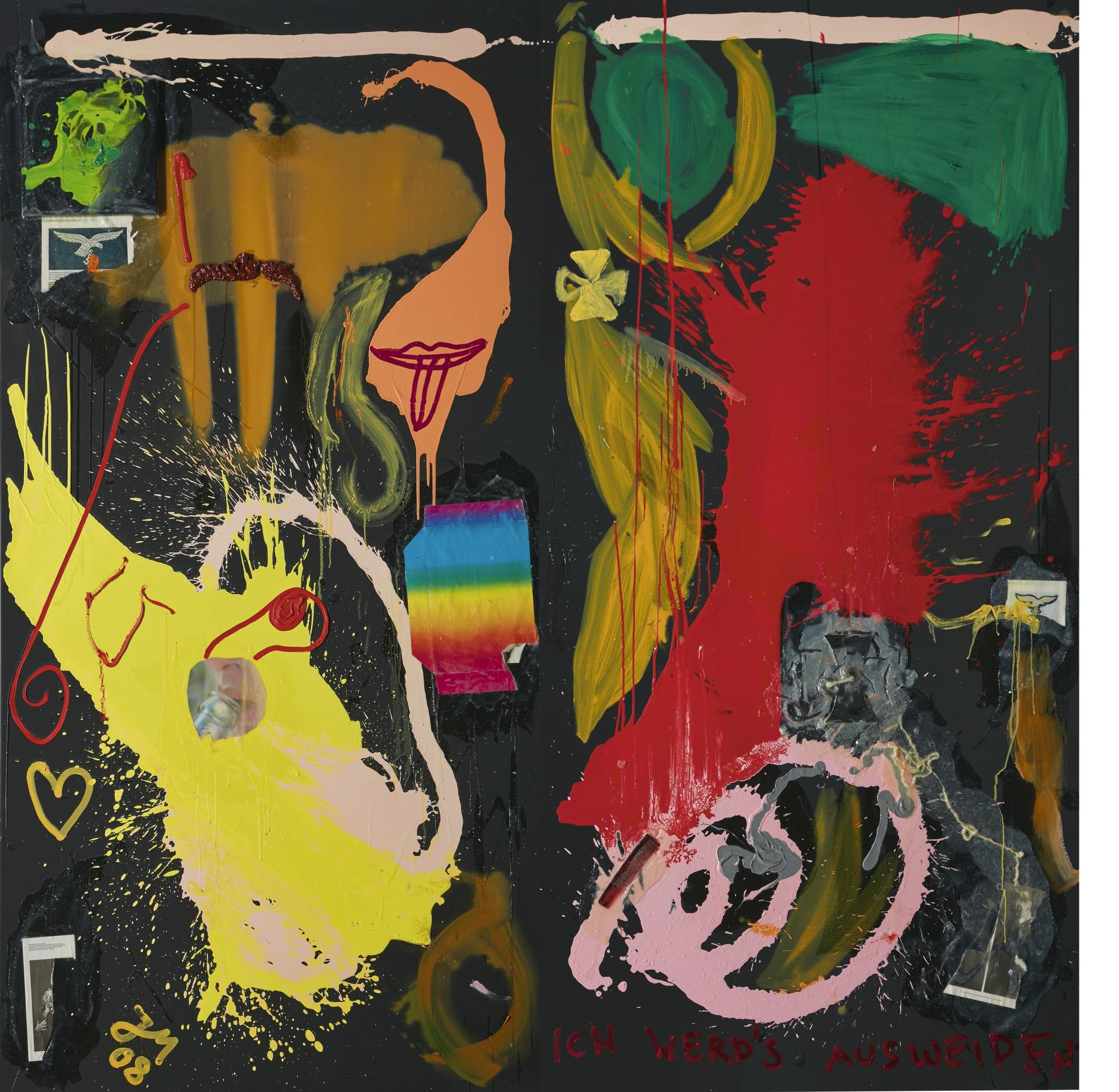 Jonathan Meese-Vitalfunktion Don 'Drysysuss' Im Saalcanyon [Diptych]-2008