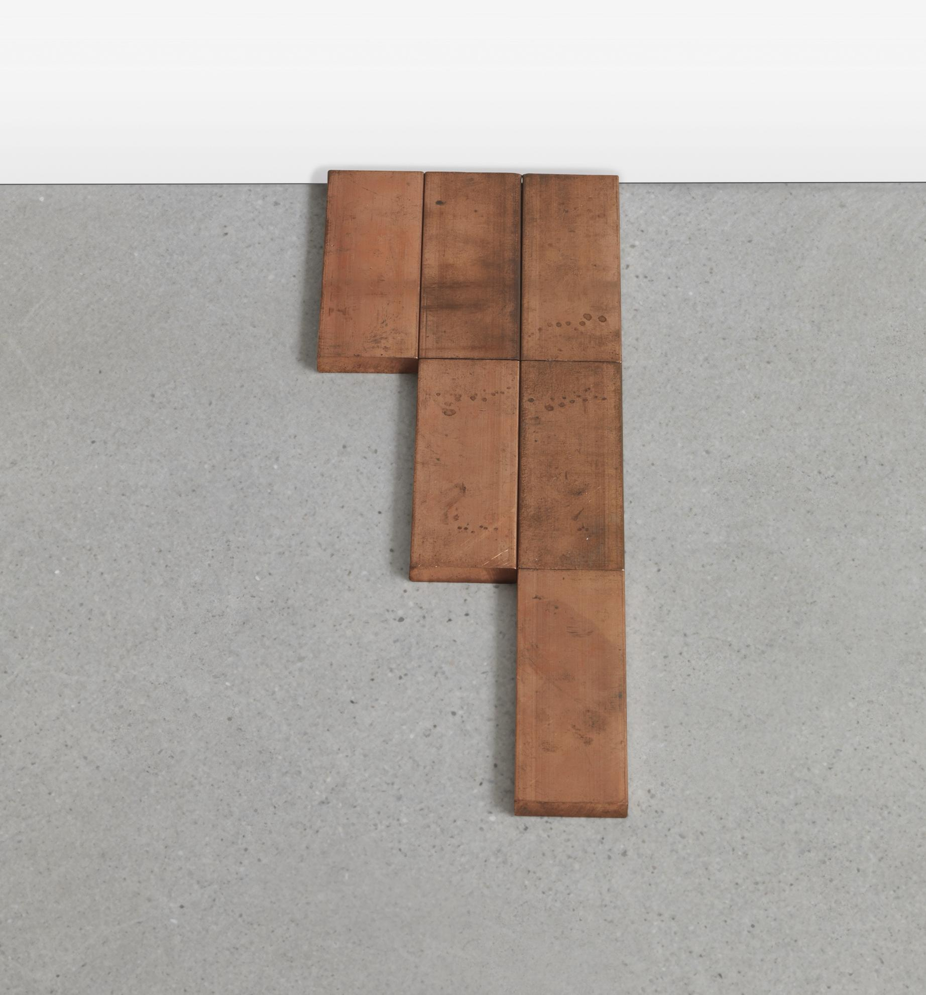 Carl Andre-Small Glarus Copper Rectangle Σ 3-2007