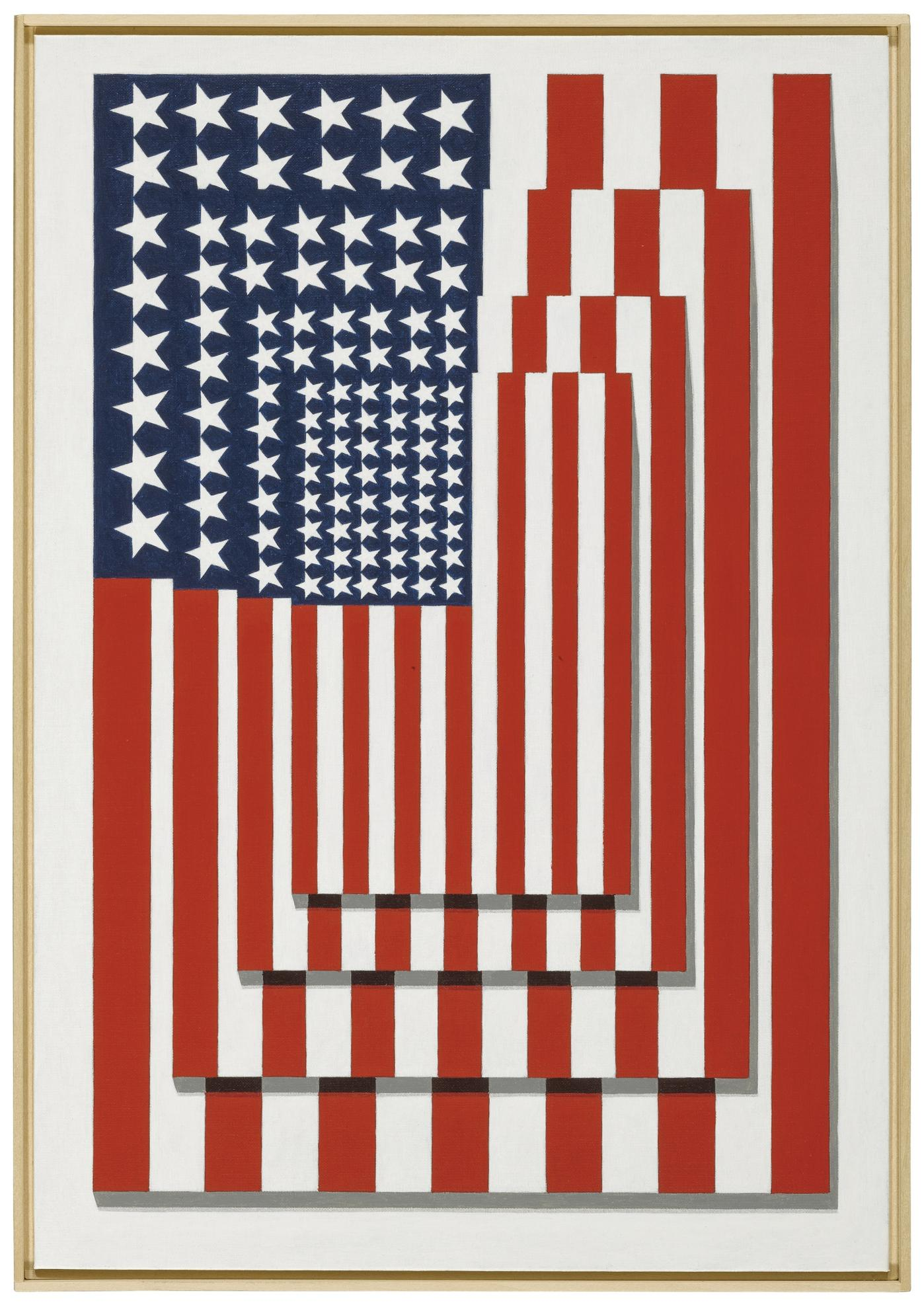 Richard Pettibone-Four Flags, Vertical, #2-2002