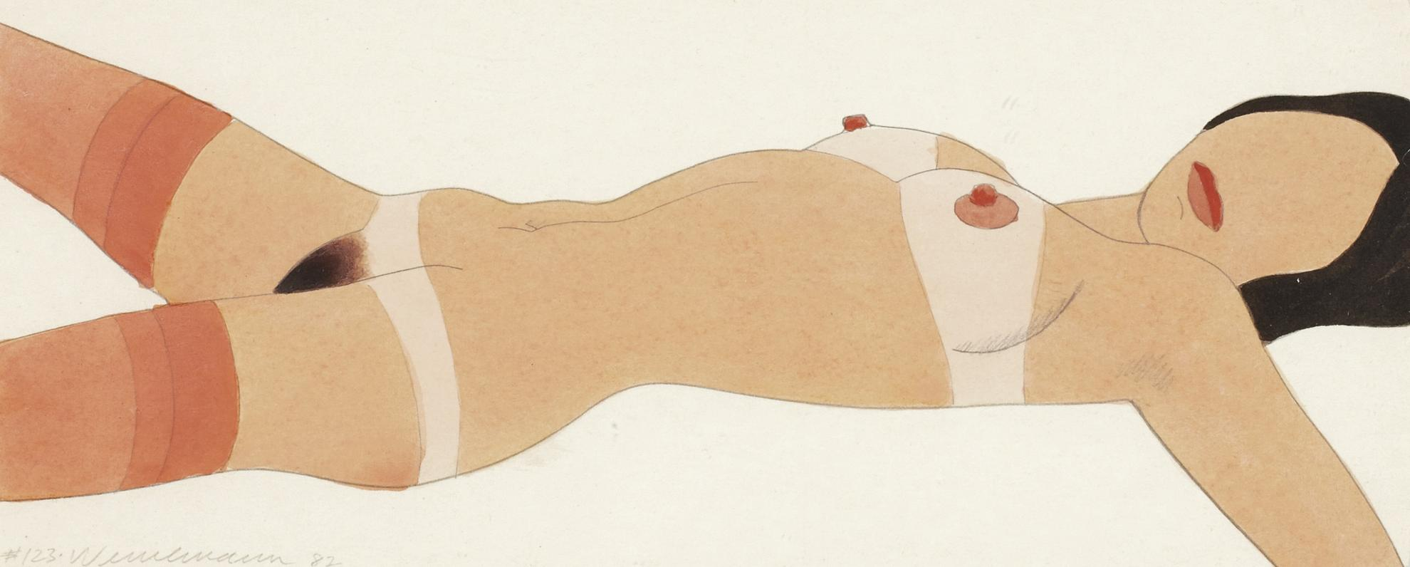 Tom Wesselmann-Open Ended Nude #123 (Drawing Edition)-1982