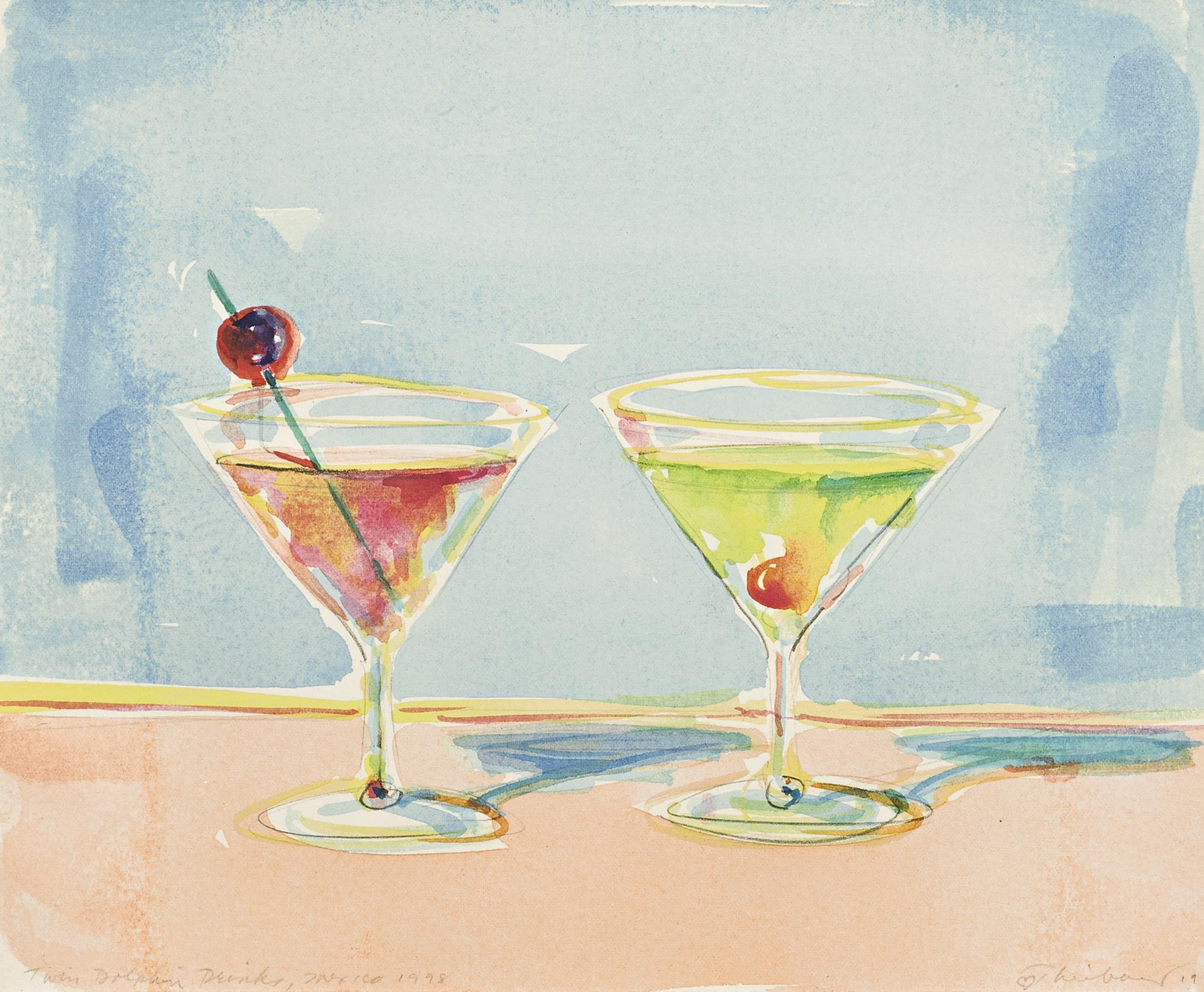 Wayne Thiebaud-Twin Dolphin Drinks, Mexico 1998-1998