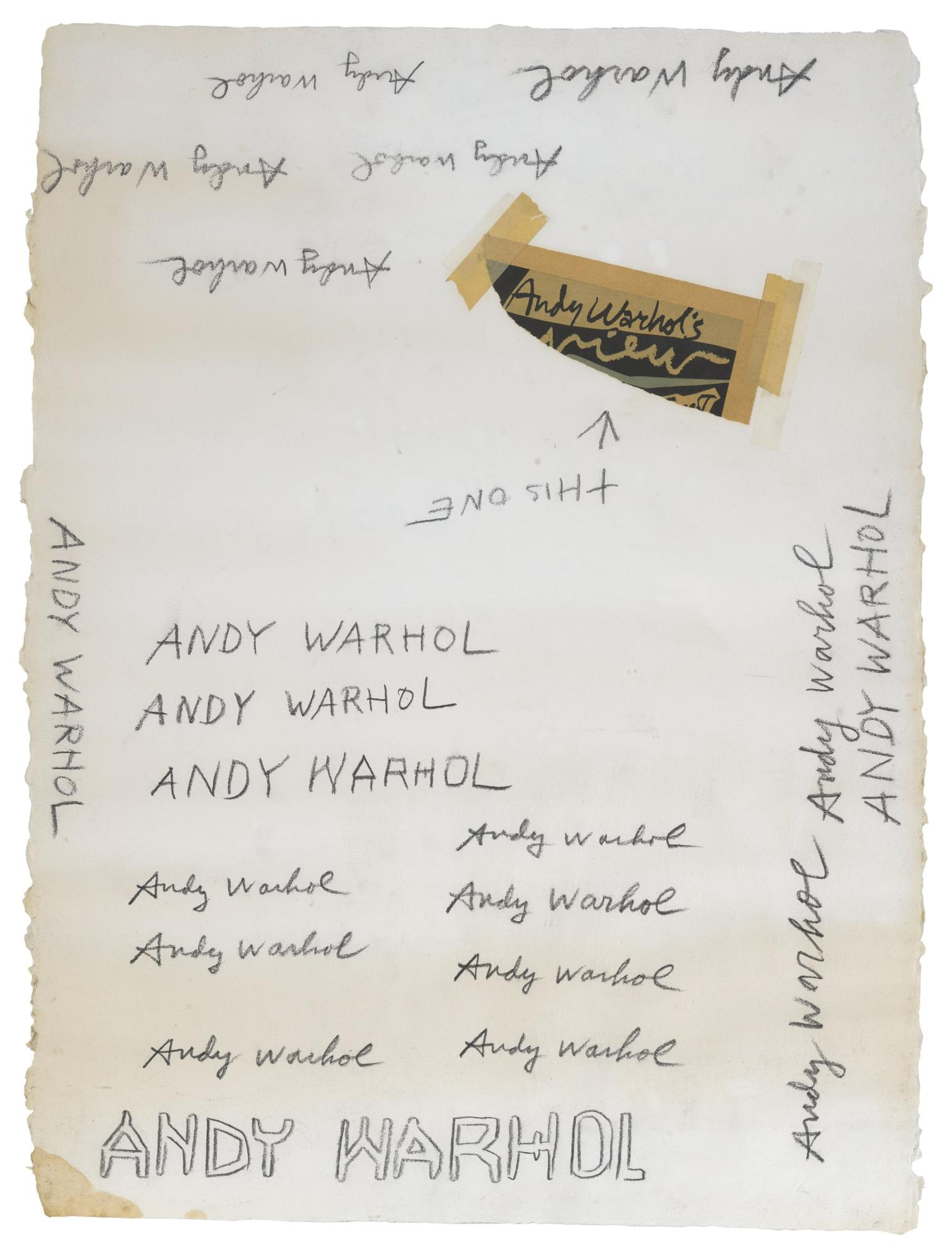 Andy Warhol-Untitled (Signatures)-1985