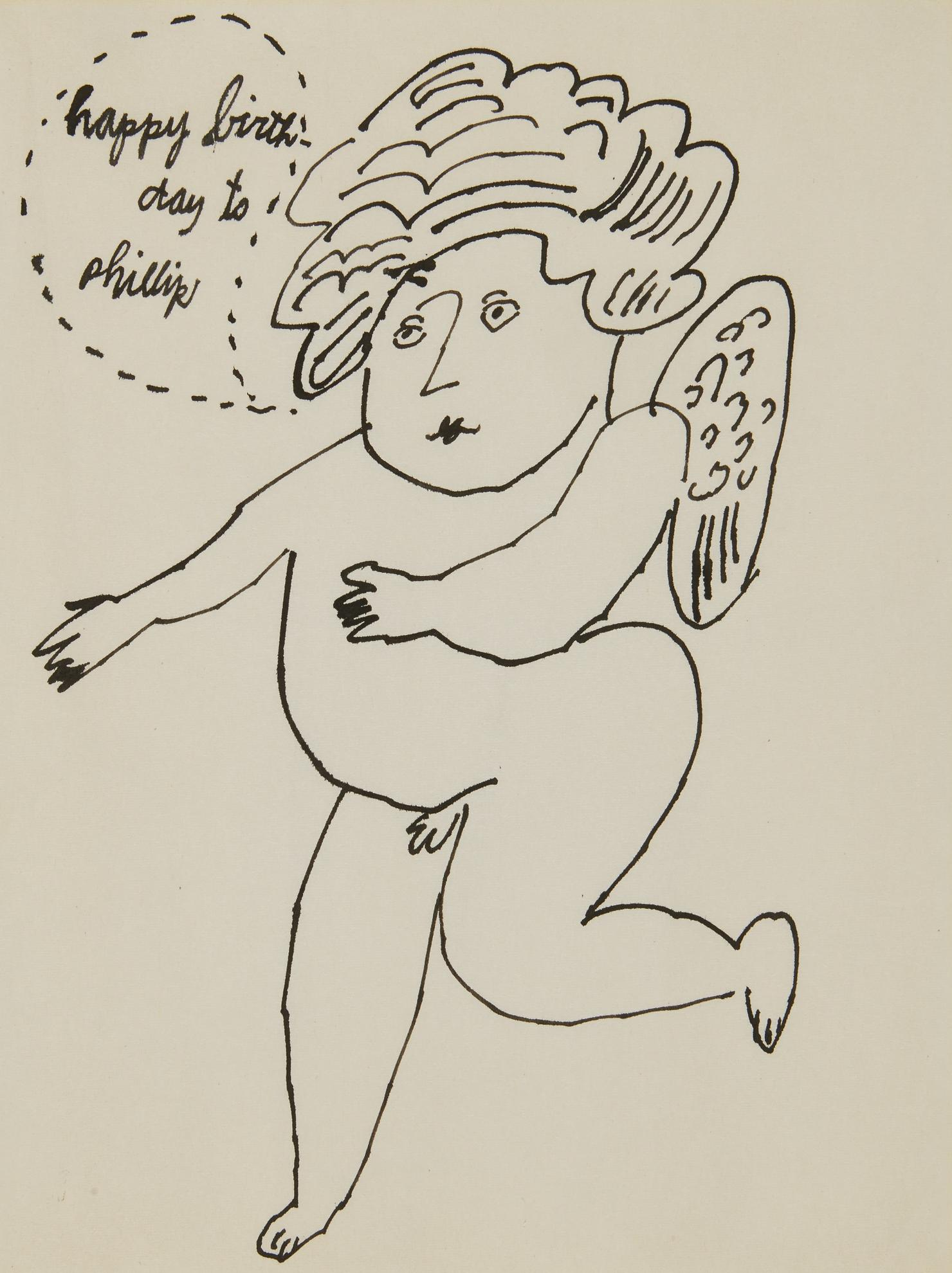 Andy Warhol-Angel (Happy Birthday To Phillip)-1955