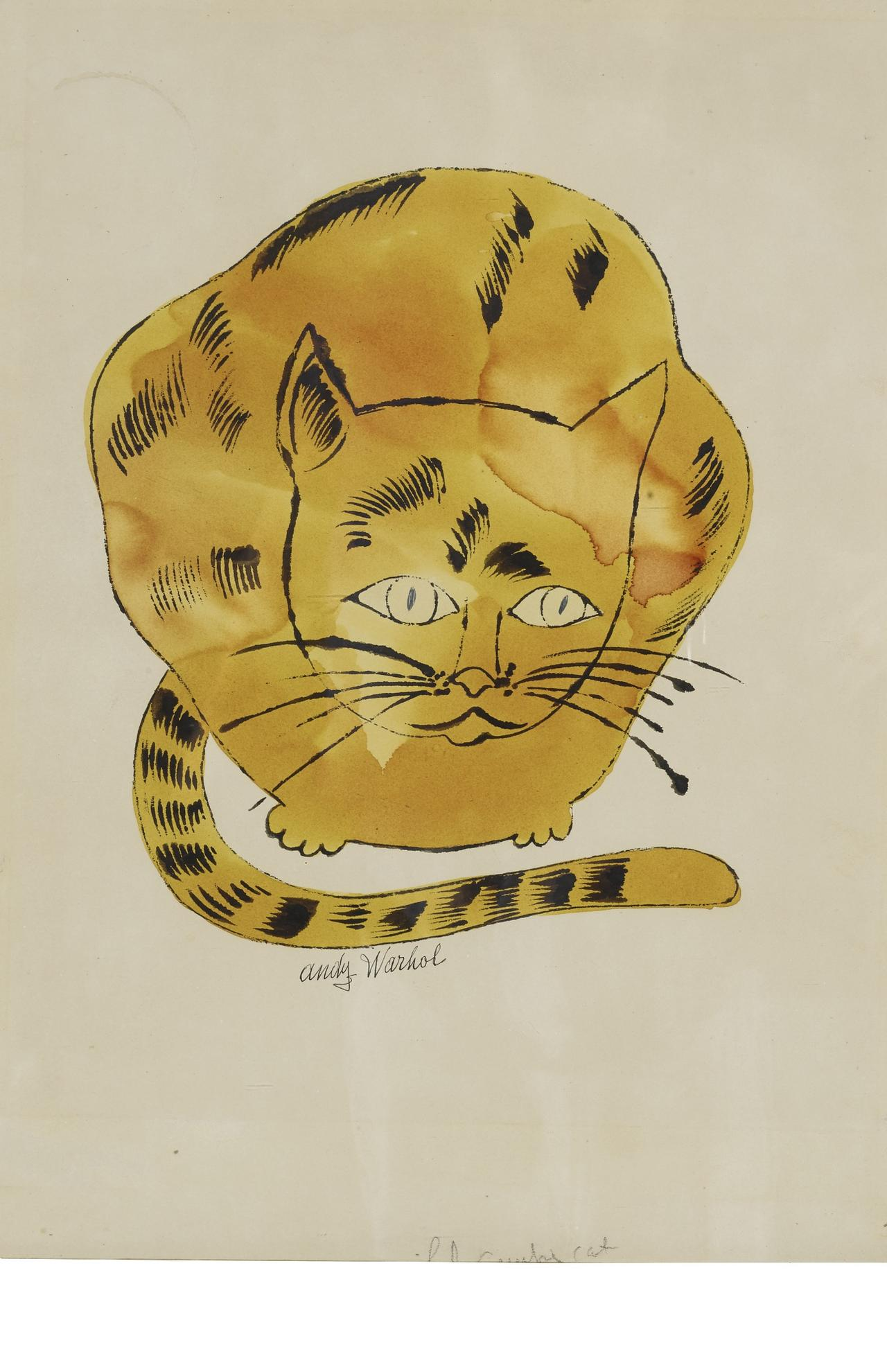 Andy Warhol-Cat-1957