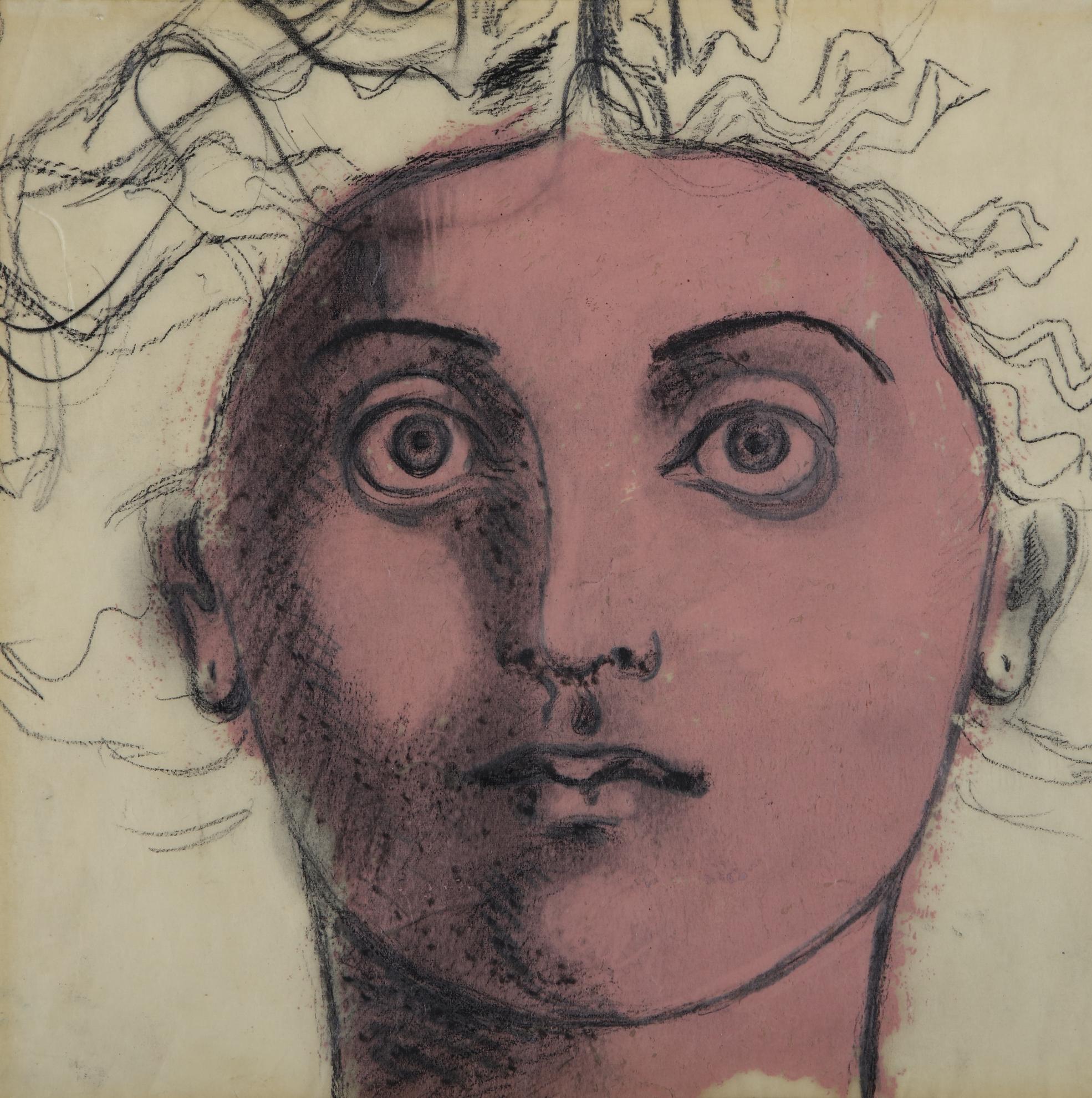John D. Graham-Untitled (Head Of Medusa)-1955
