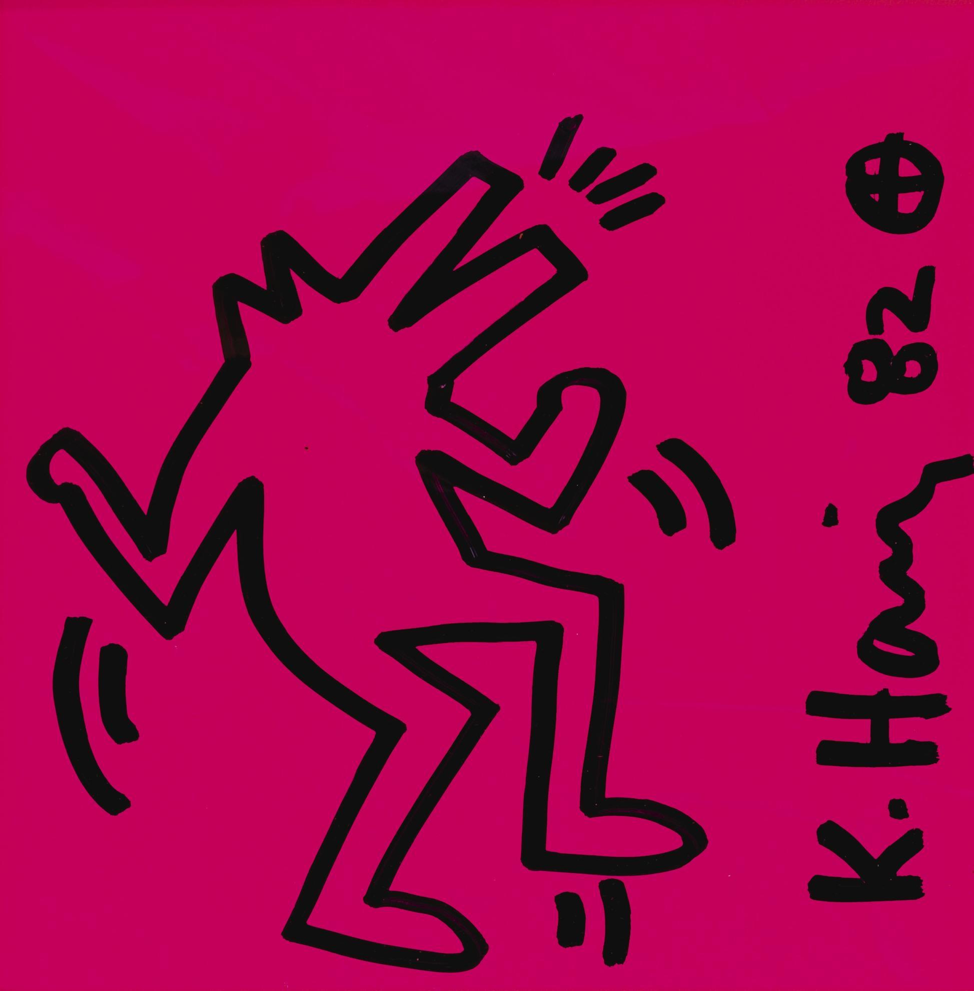 Keith Haring-Dancing Dog-1982