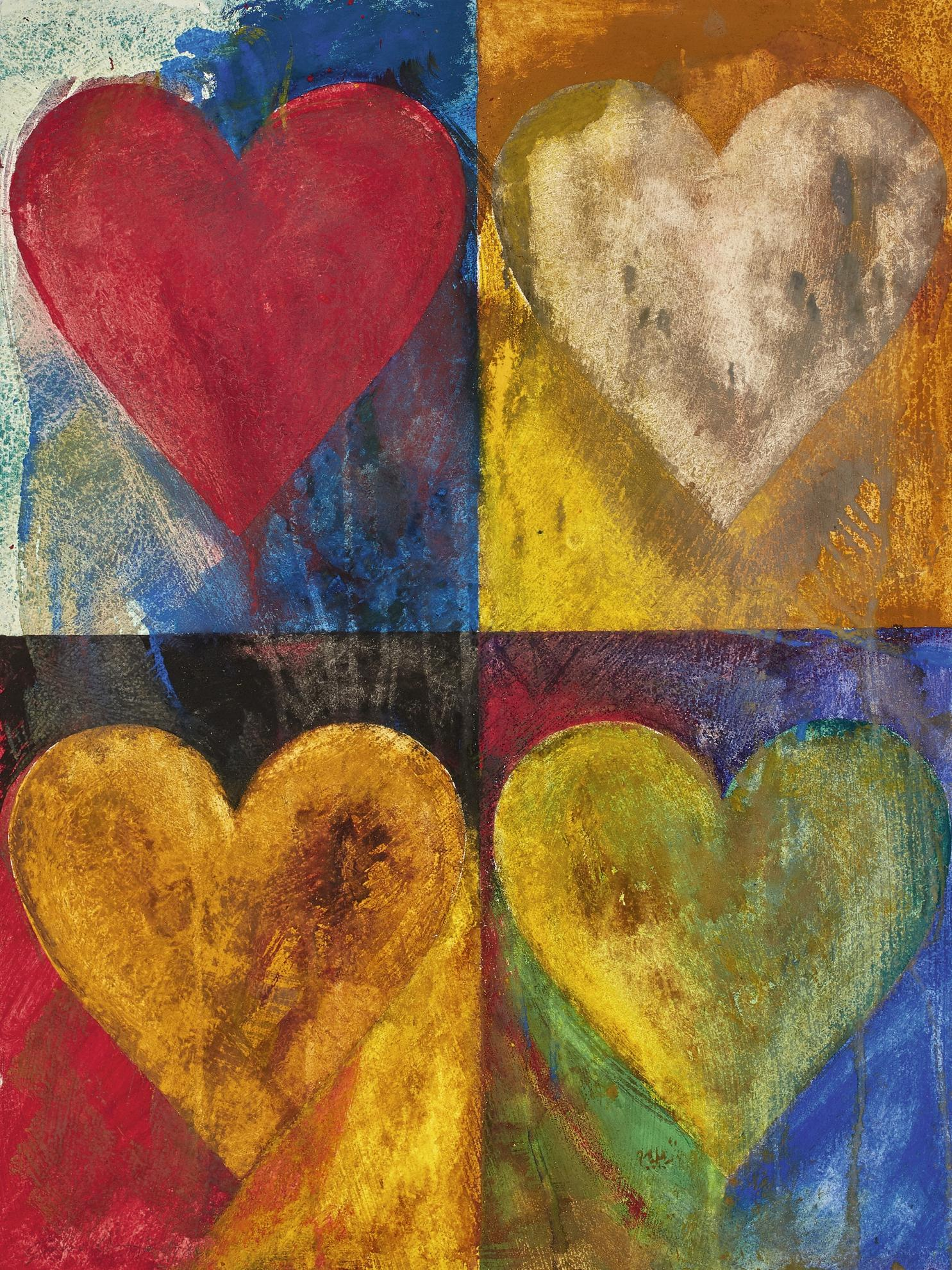 Jim Dine-Untitled (Hearts)-1980