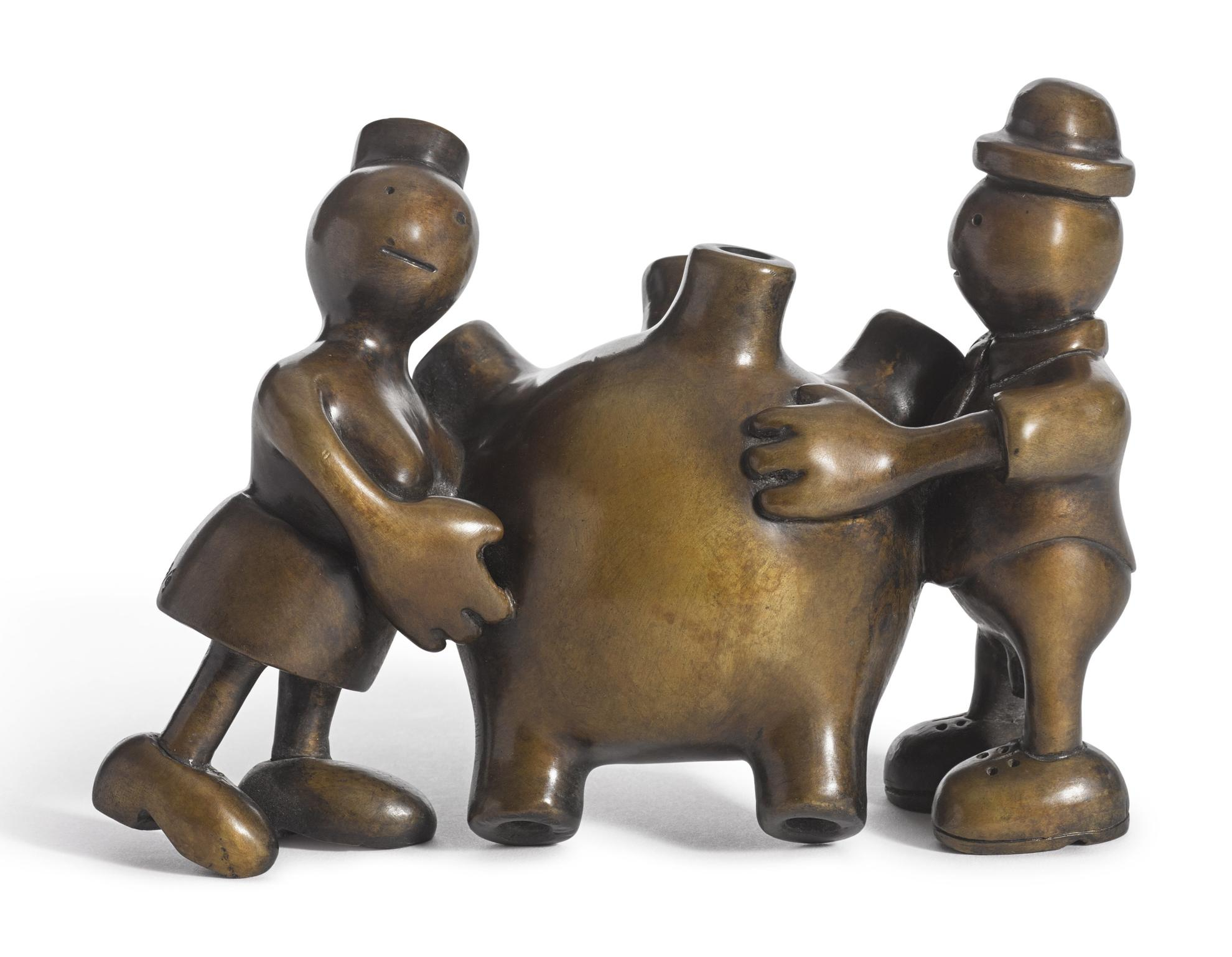 Tom Otterness-Couple With A Heart-1993