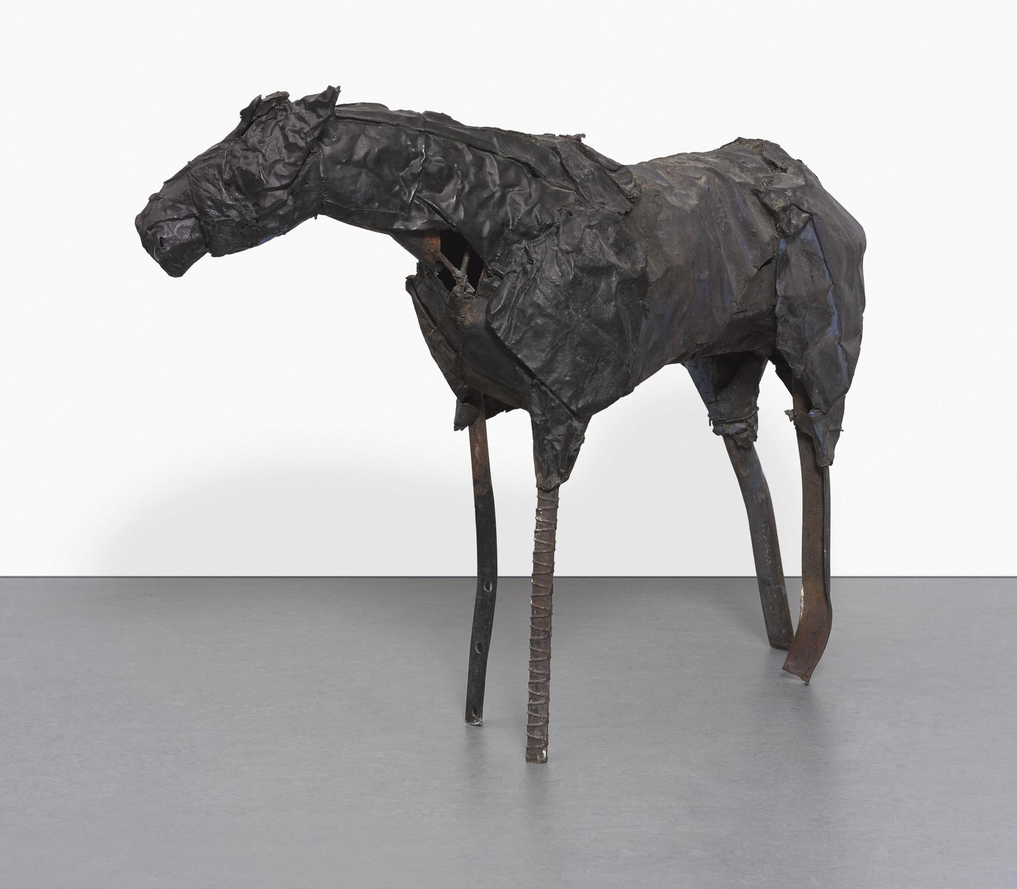 Deborah Butterfield-Untitled (Sheet Metal Horse)-1985