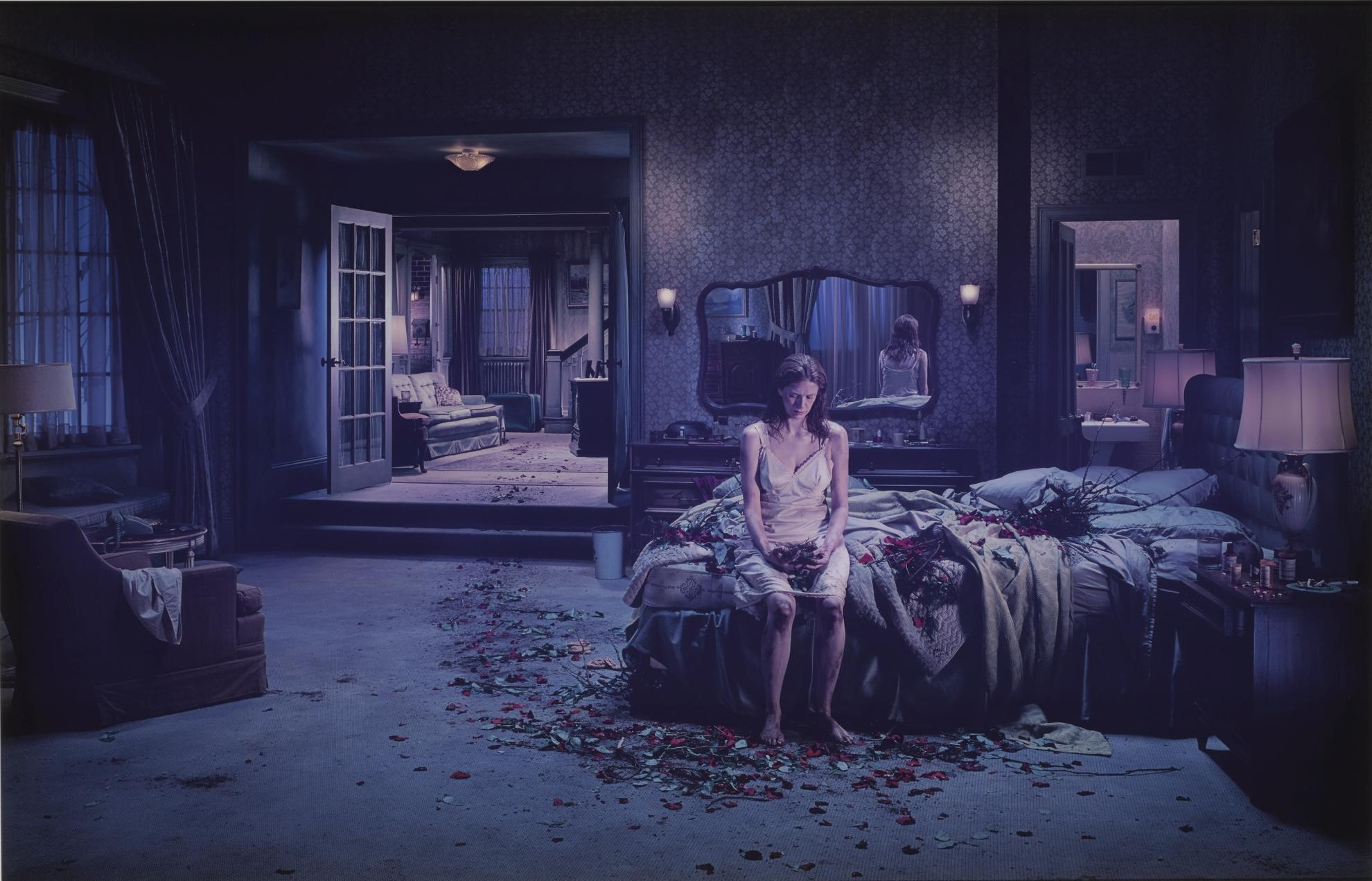 Gregory Crewdson-Untitled, Winter (Bed Of Roses)-2005