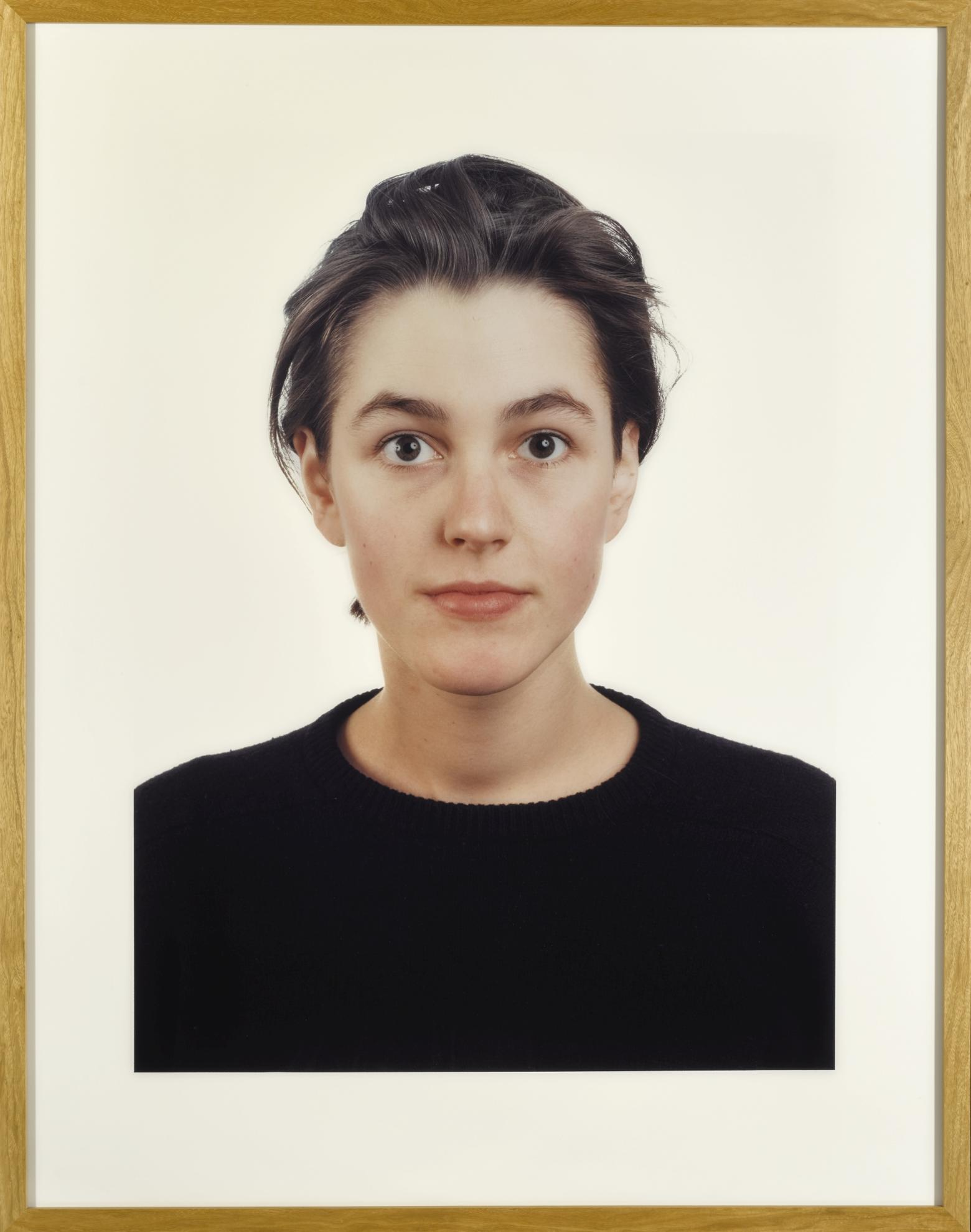 Thomas Ruff-Portrait (L. Hoffman)-1989