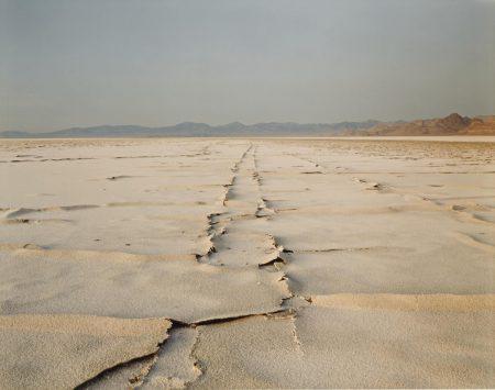 Richard Misrach-Encrusted Tracks, Bonneville Salt Flats-1996